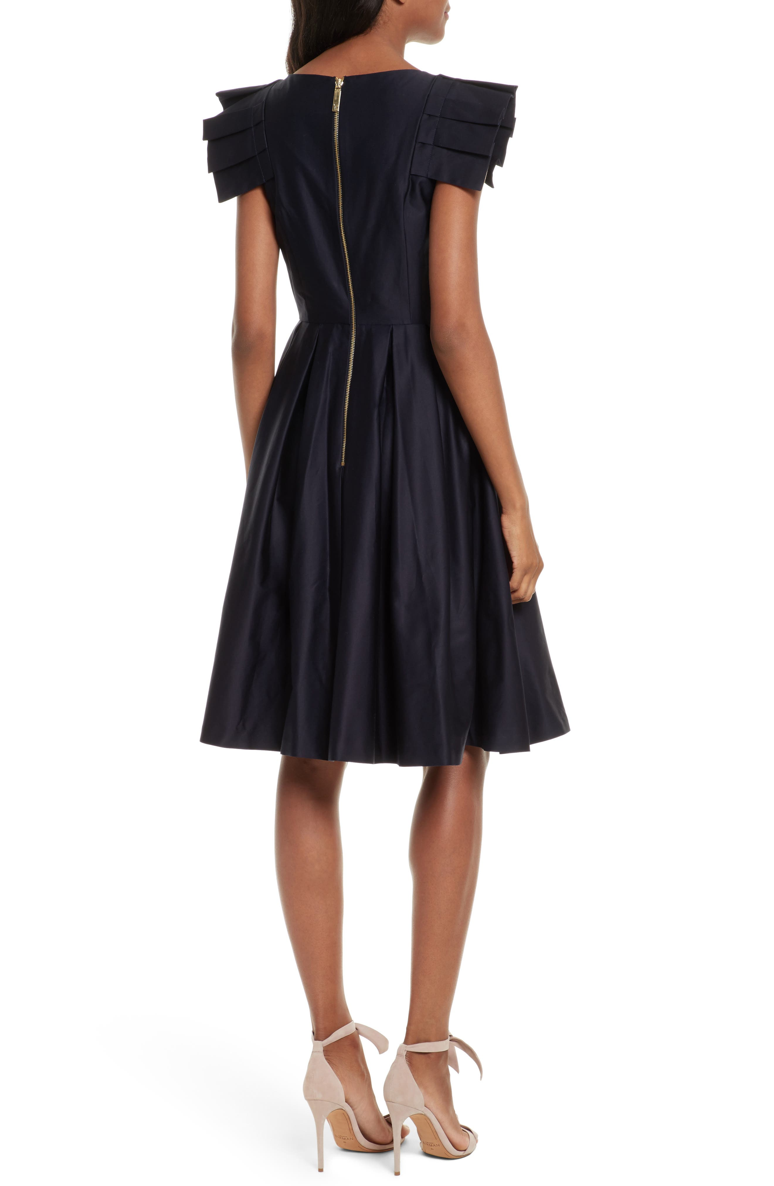 Gabrina Fit & Flare Dress,                             Alternate thumbnail 2, color,                             Navy
