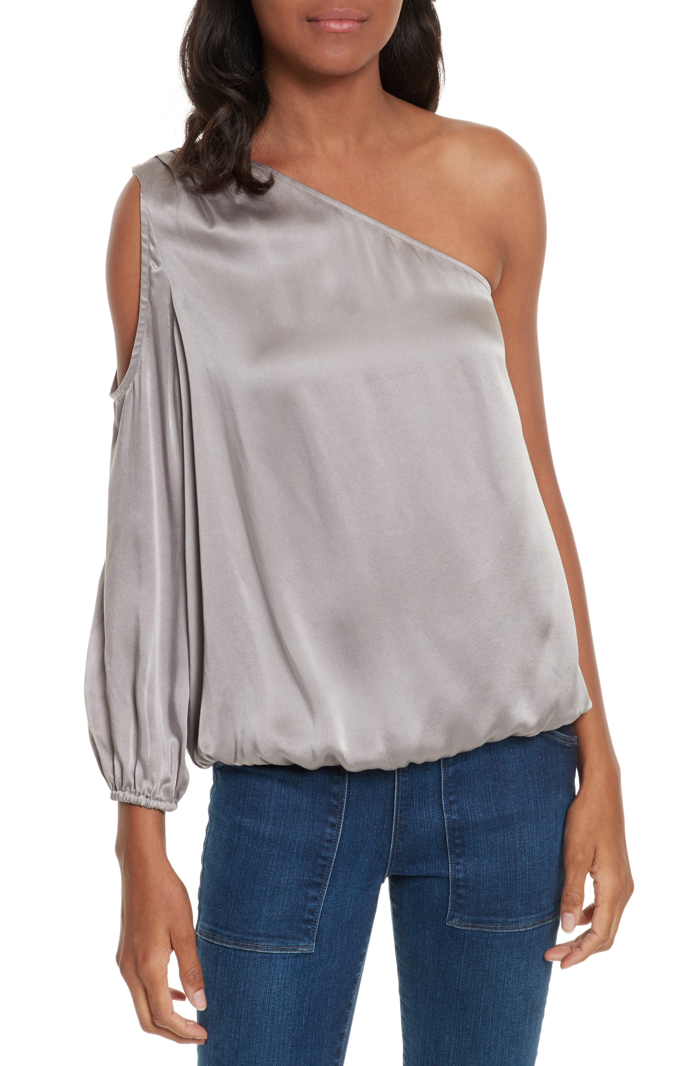 Alternate Image 1 Selected - Joie Abatha One-Shoulder Silk Top