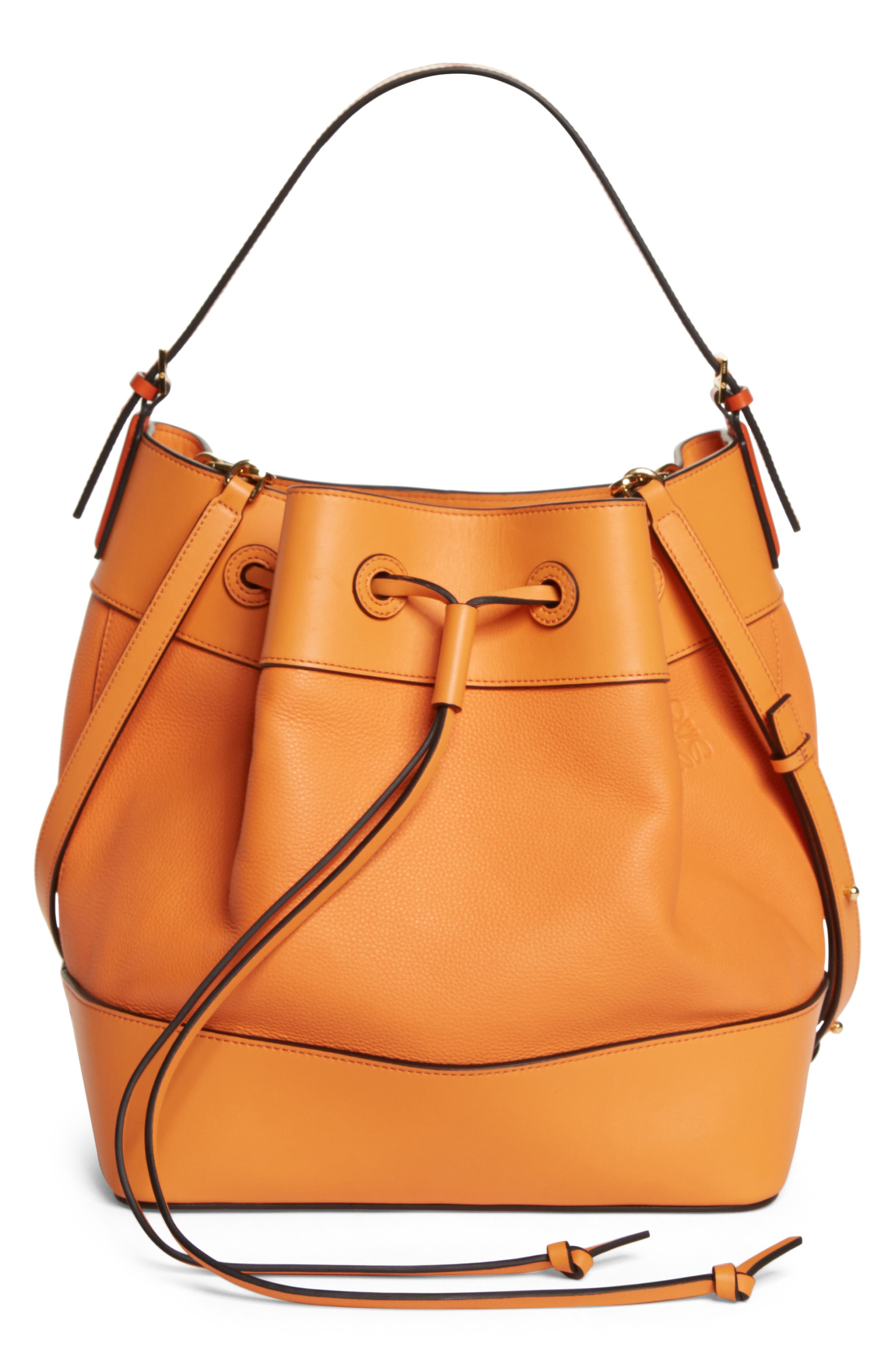 Loewe Midnight Leather Bucket Bag