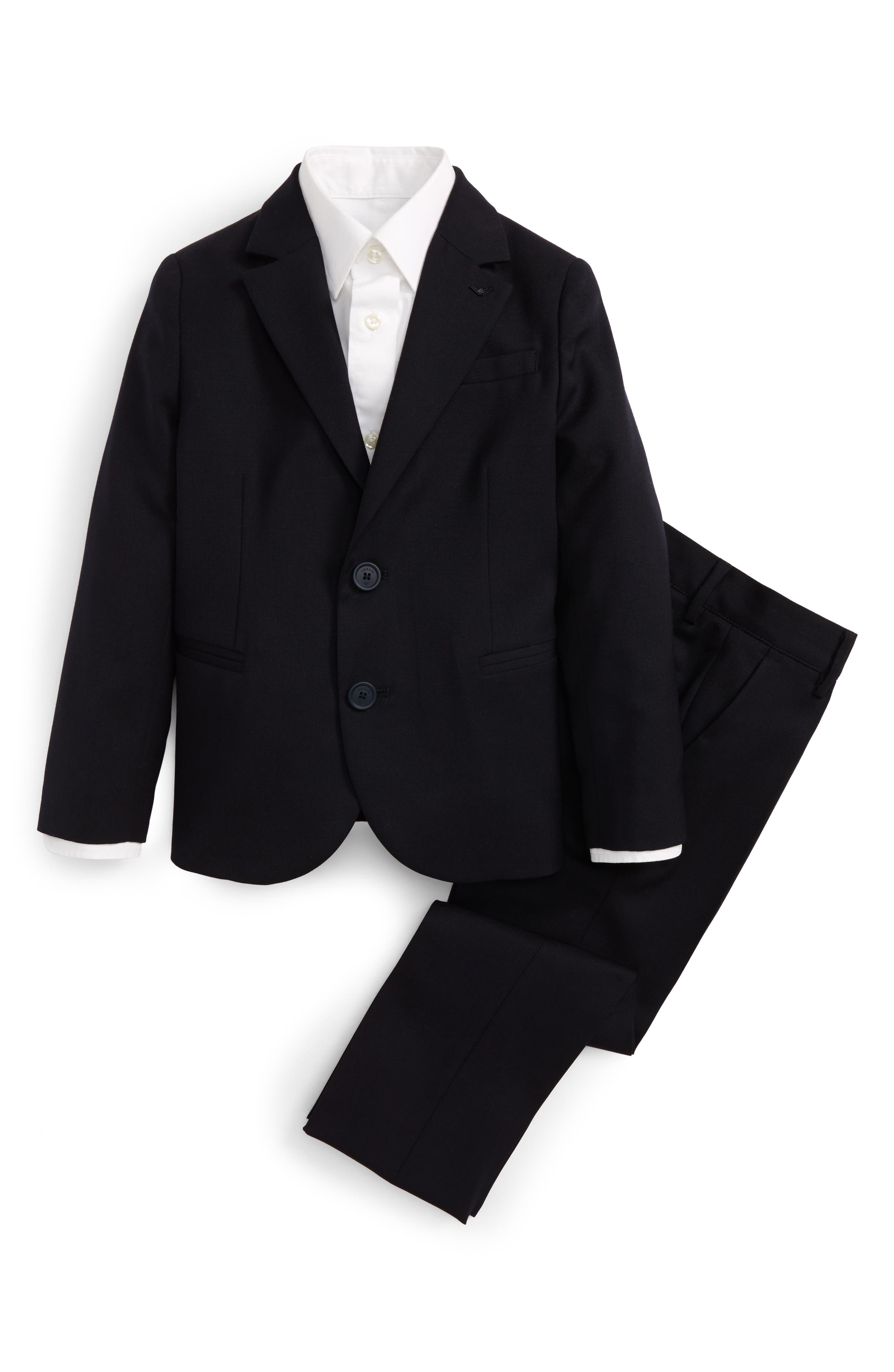 Wool Suit,                         Main,                         color, Navy