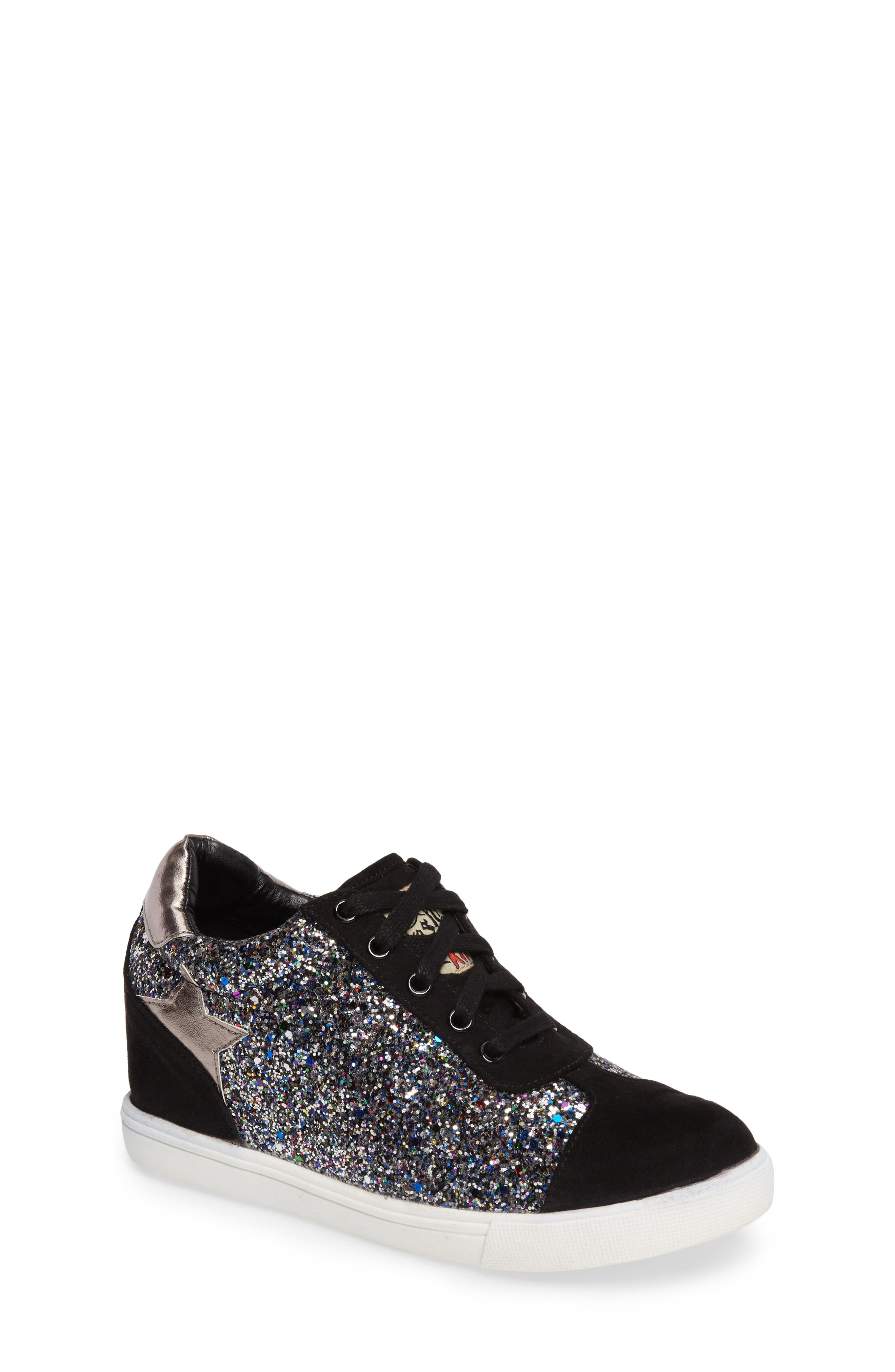 Main Image - Ash Low Star Glittery Concealed Wedge Sneaker (Toddler, Little Kid & Big Kid)