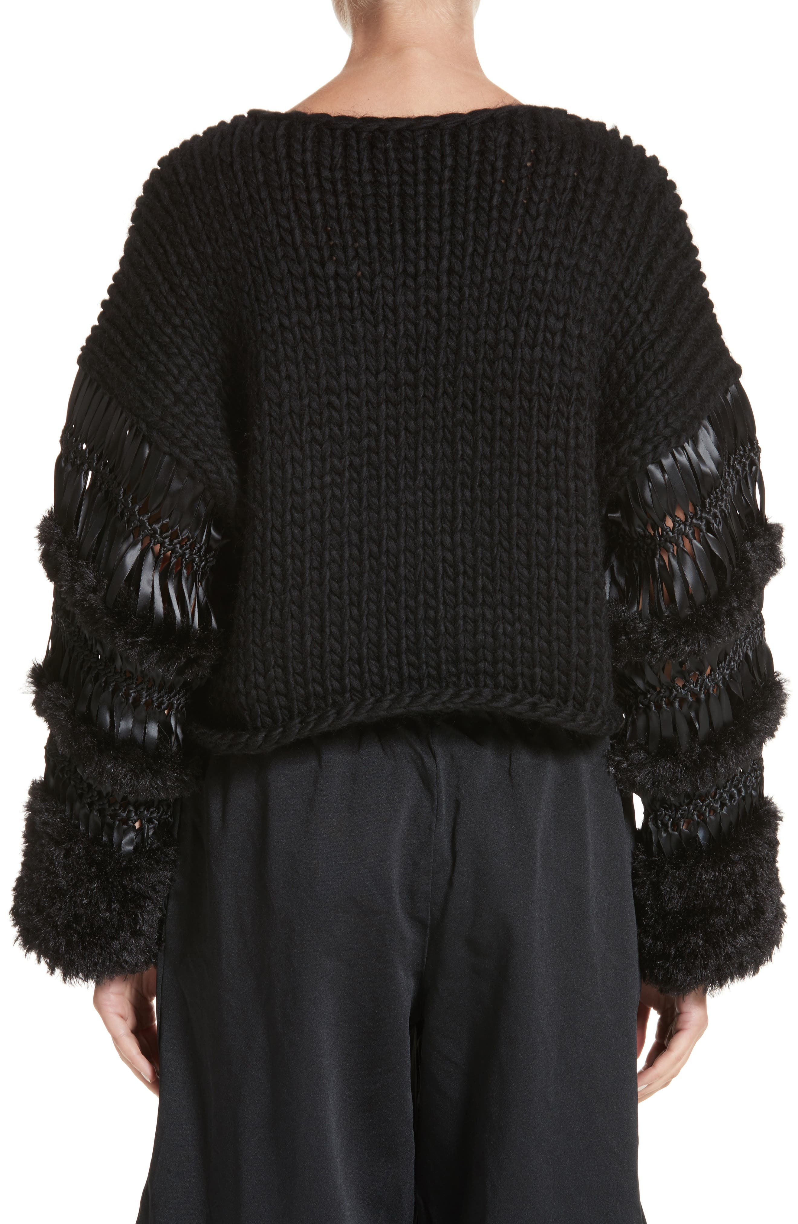 Alternate Image 2  - noir kei ninomiya Mixed Media Sweater