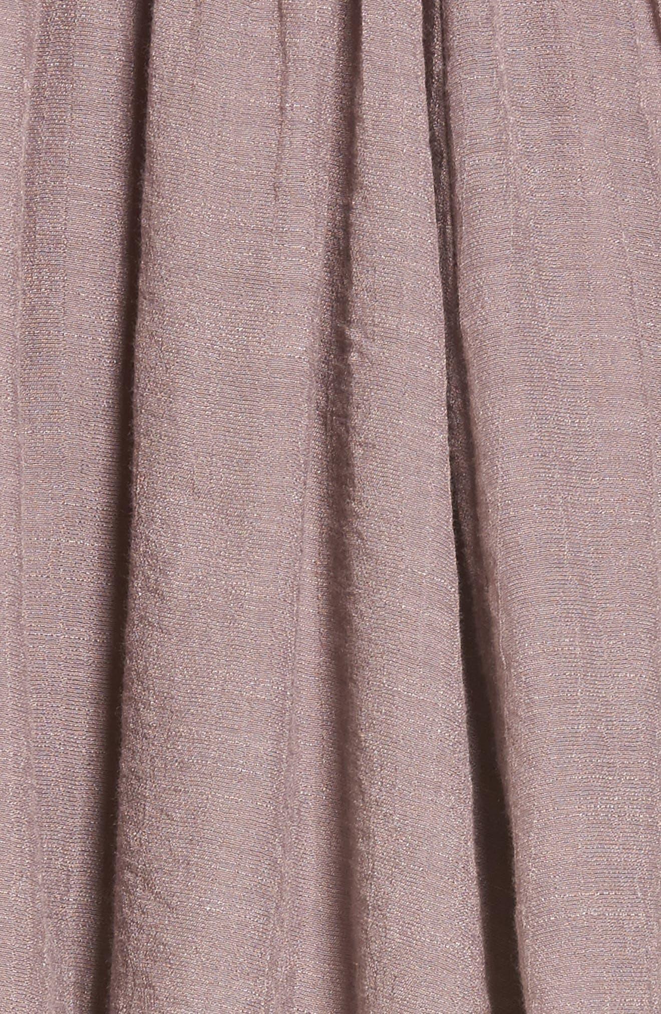 Lace-Up Peasant Dress,                             Alternate thumbnail 5, color,                             Purple Peace
