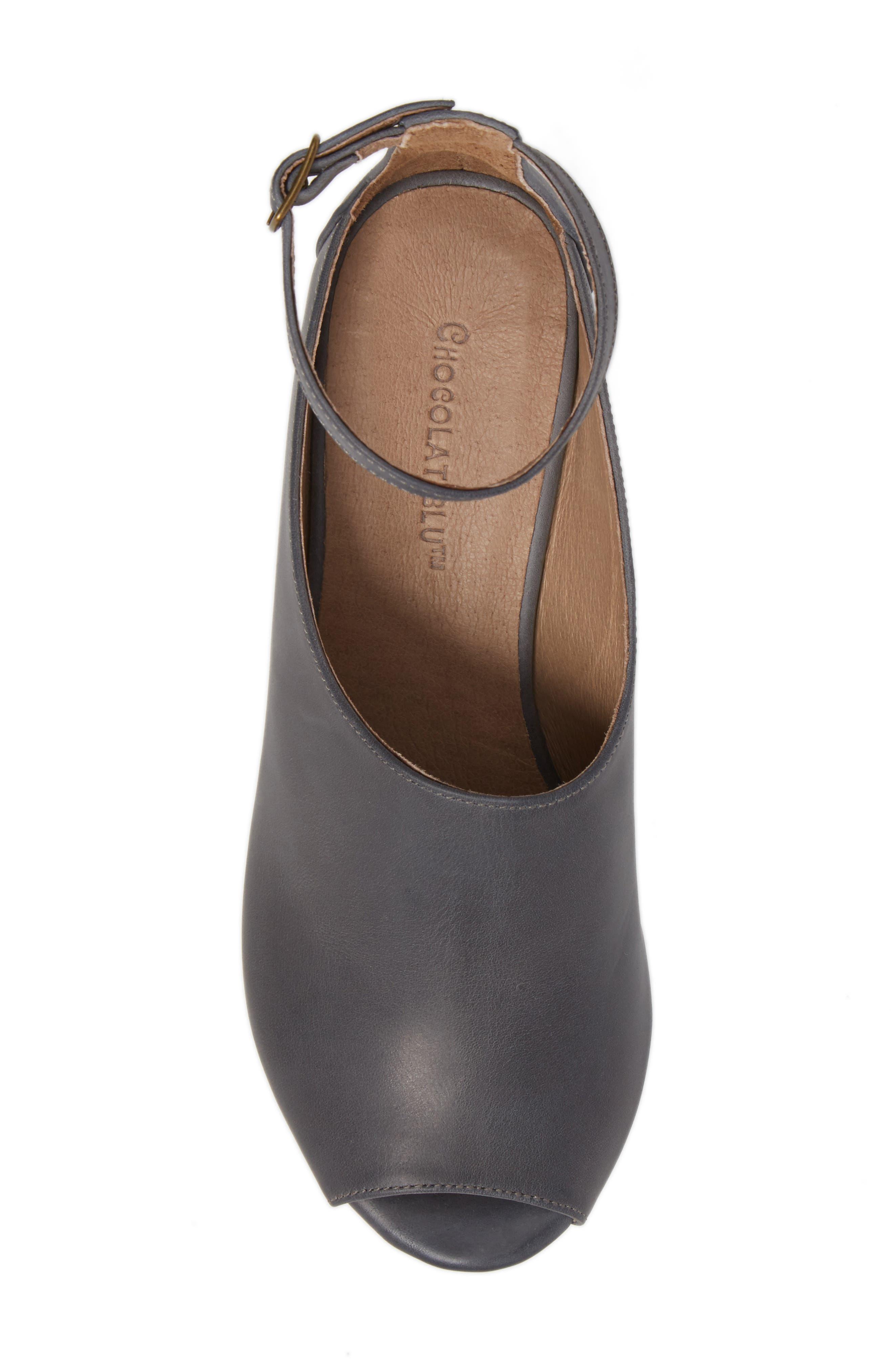 Alternate Image 5  - Chocolat Blu Walter Ankle Strap Wedge Sandal (Women)