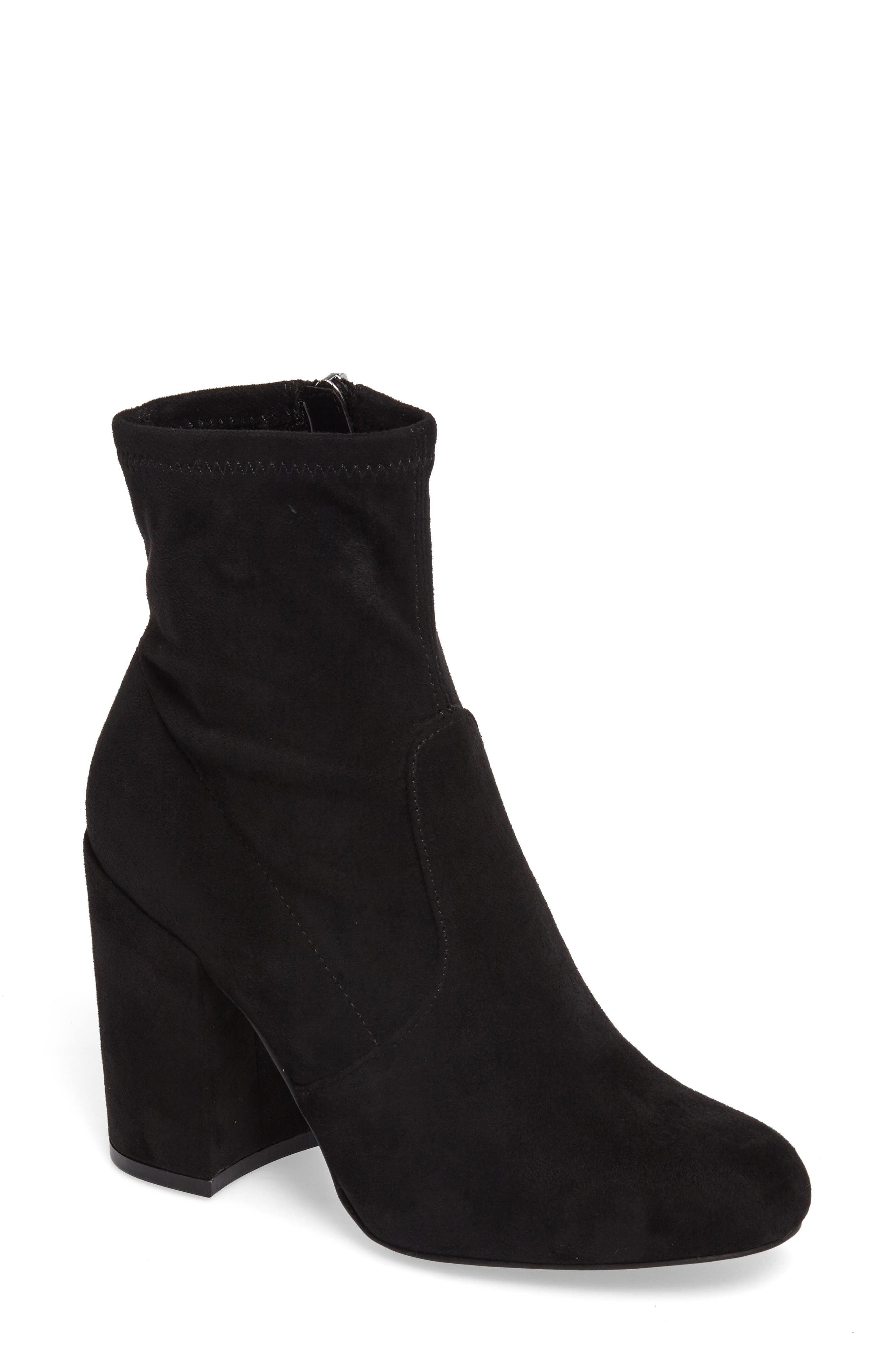 Gaze Bootie,                             Main thumbnail 1, color,                             Black Suede
