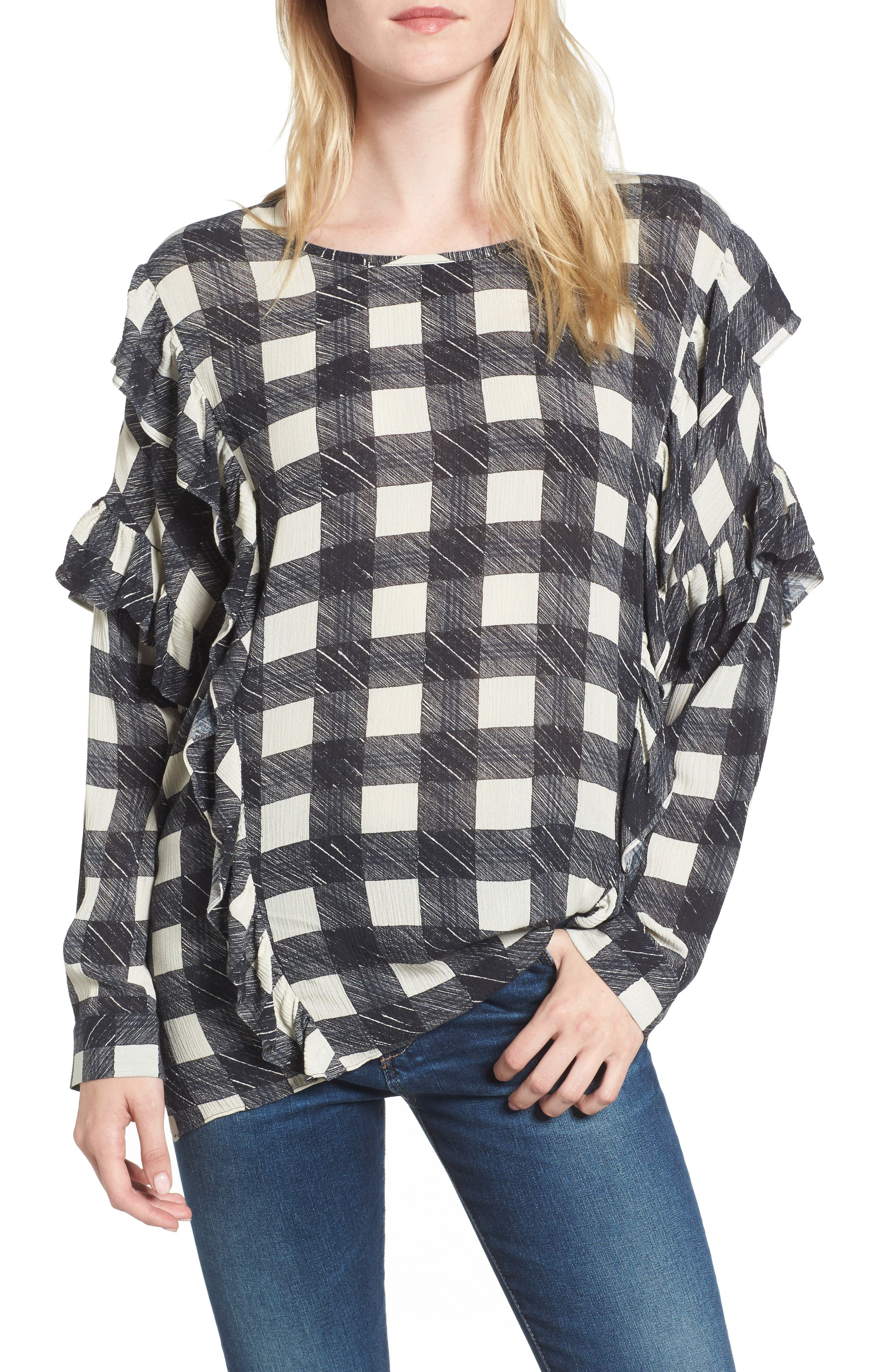 Alternate Image 1 Selected - AG Bijou Ruffle Blouse