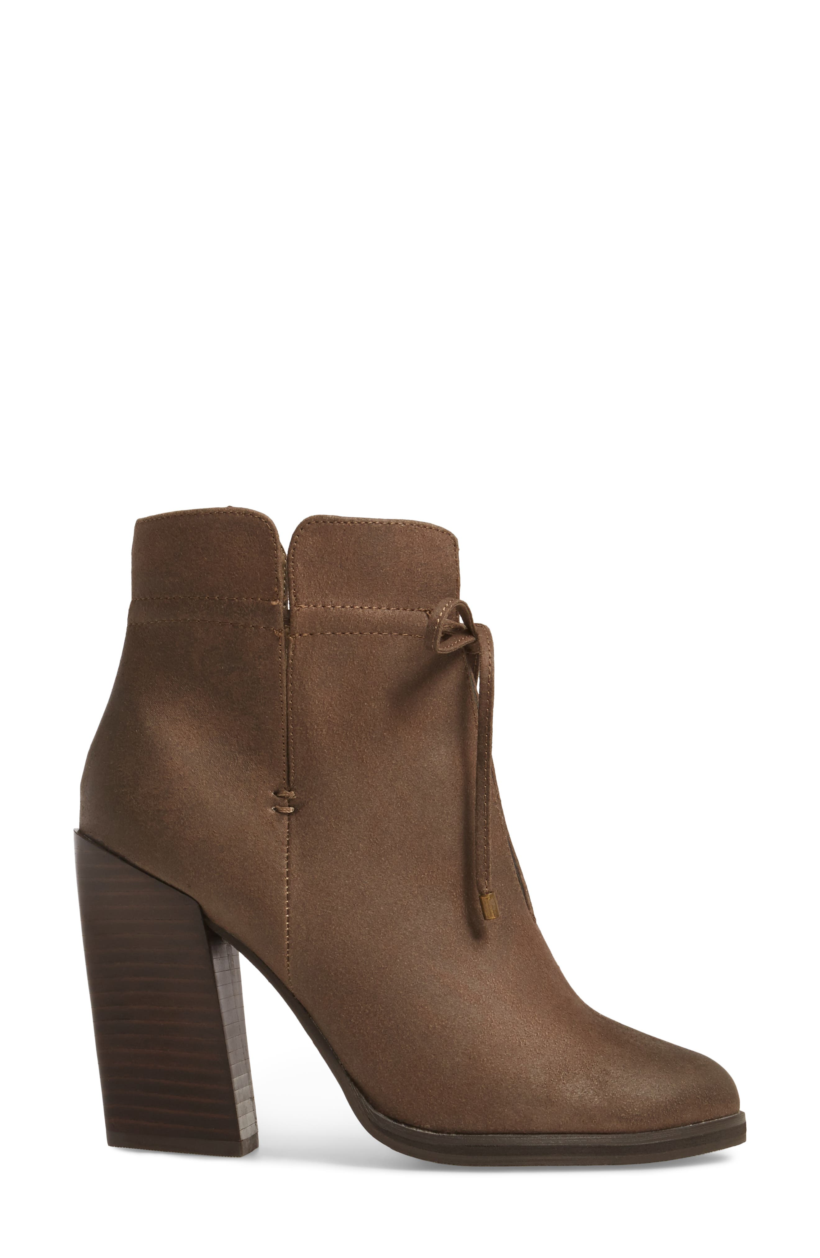 Chick Flick Bootie,                             Alternate thumbnail 3, color,                             Taupe Faux Leather