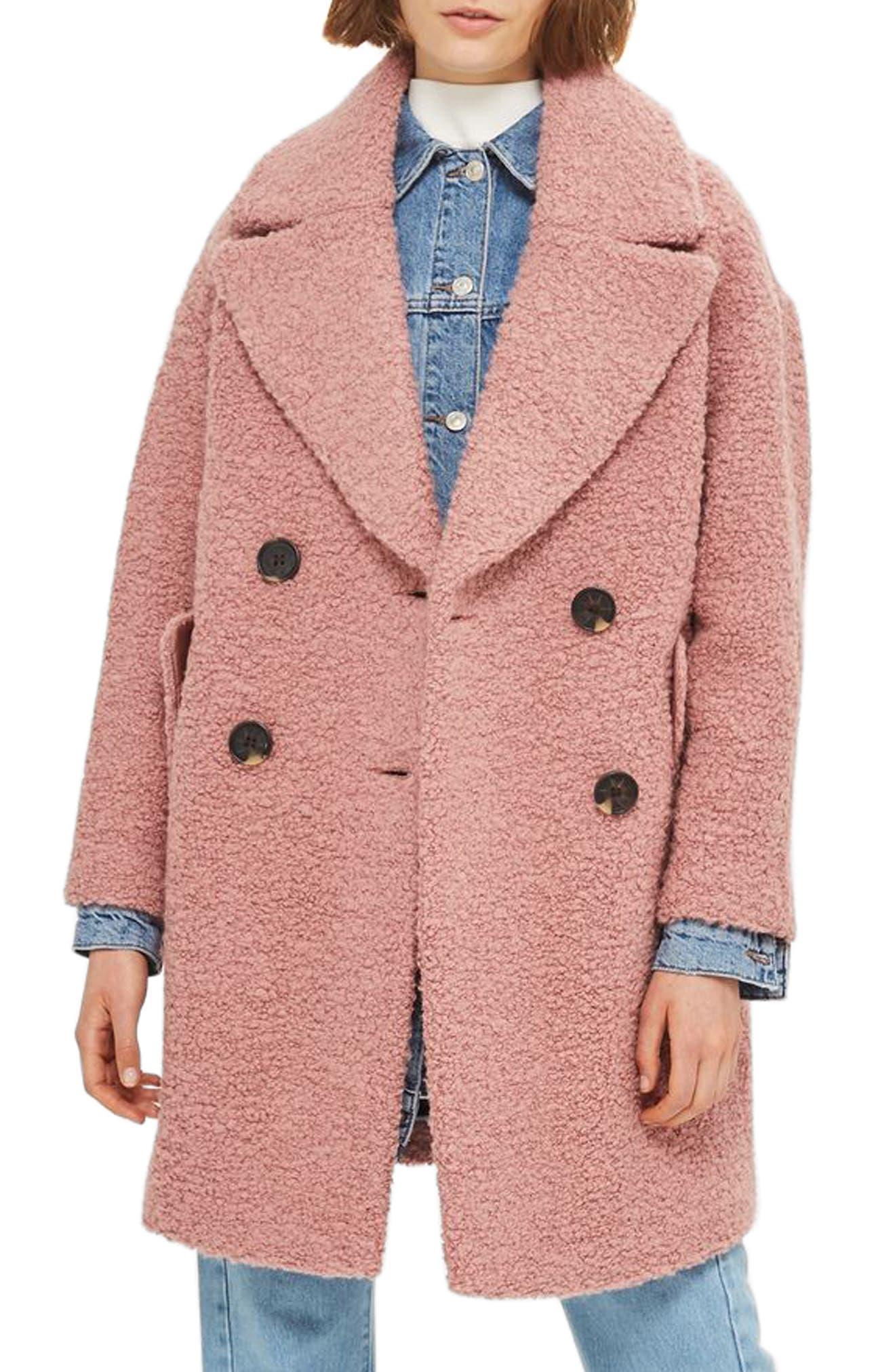 Alternate Image 1 Selected - Topshop Alicia Bouclé Slouch Coat