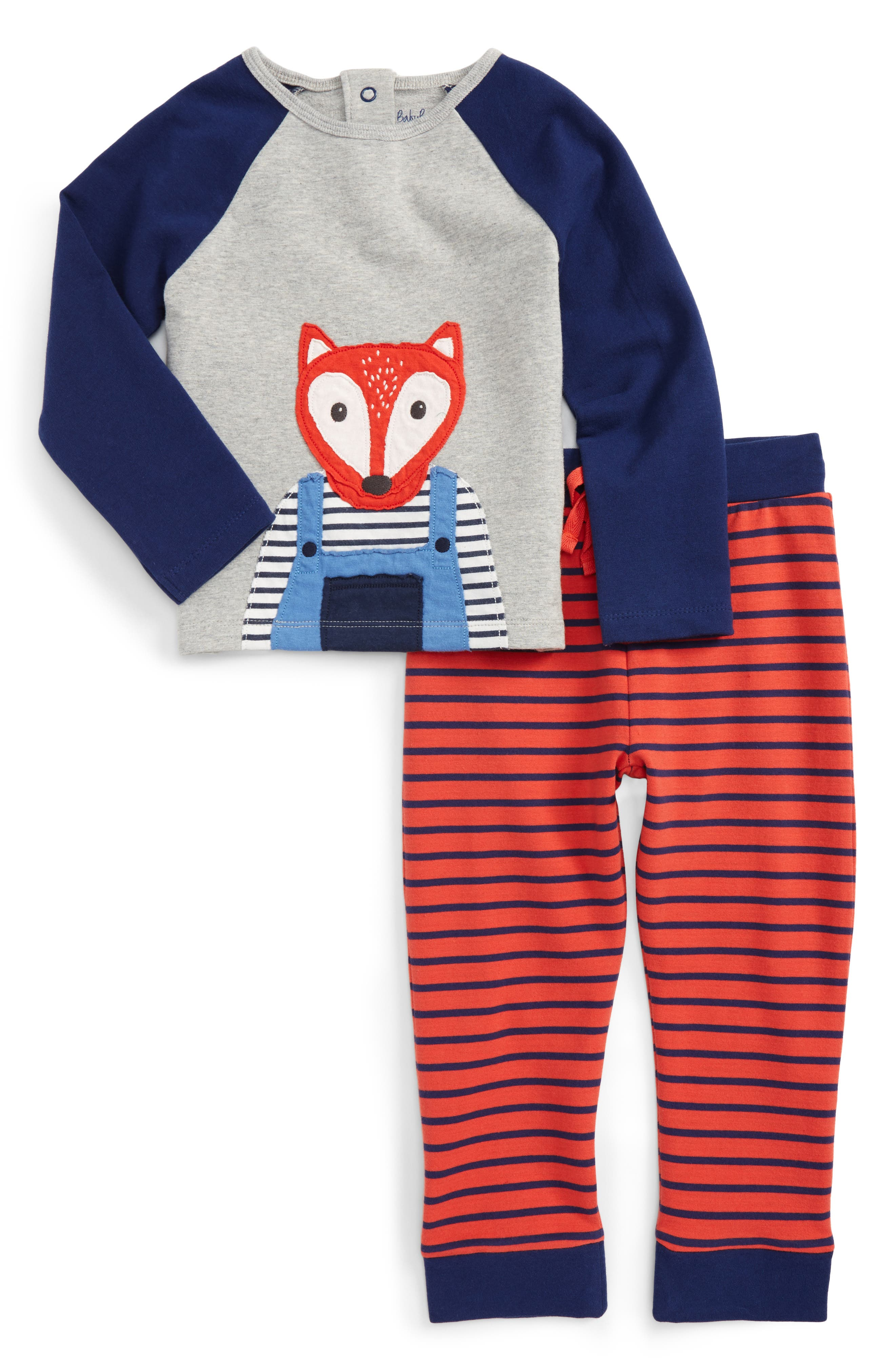 Mini Boden Fun T-Shirt & Pants Set (Baby Boys & Toddler Boys)