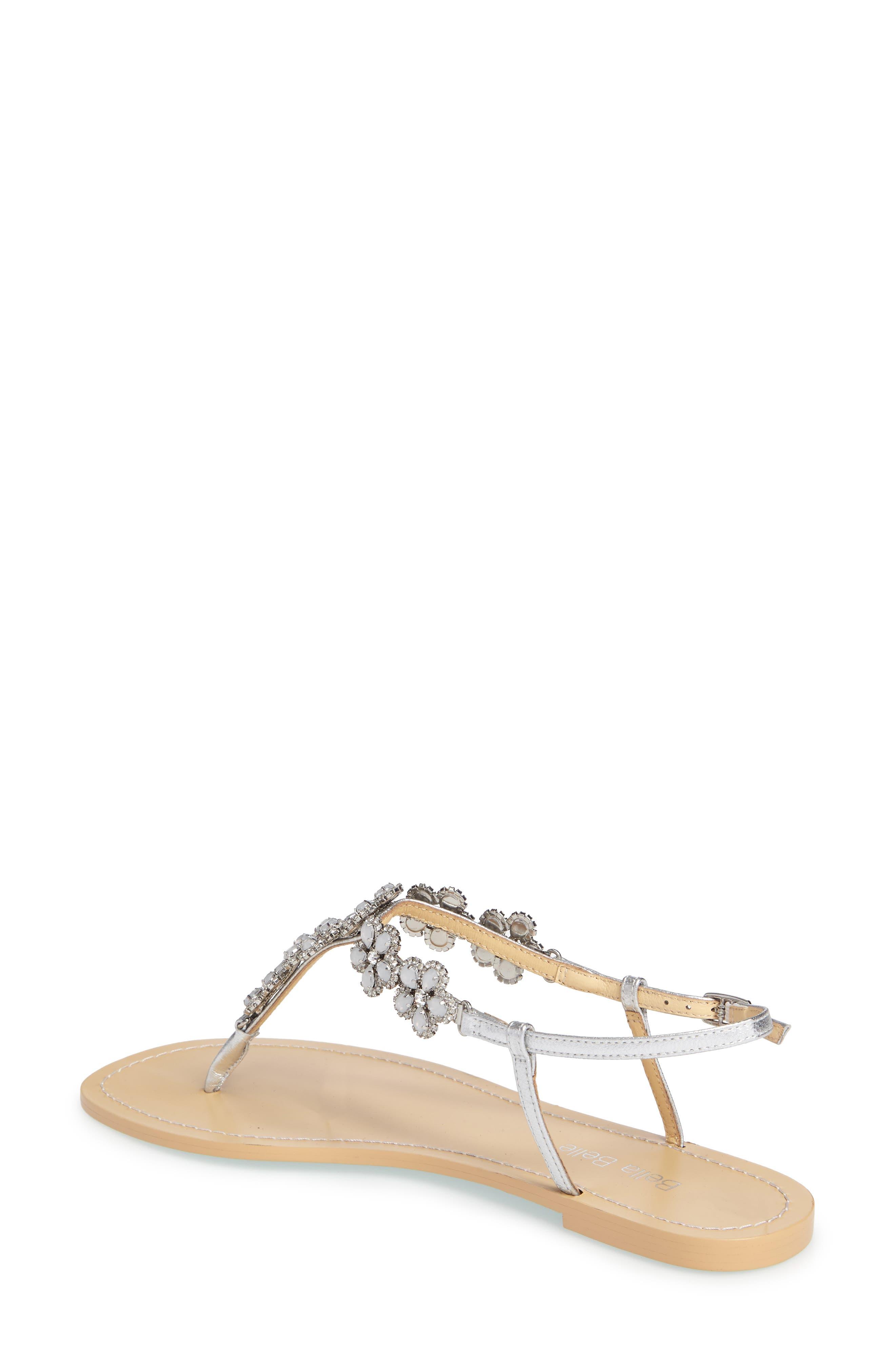 Rhea Sandal,                             Alternate thumbnail 2, color,                             Silver Leather