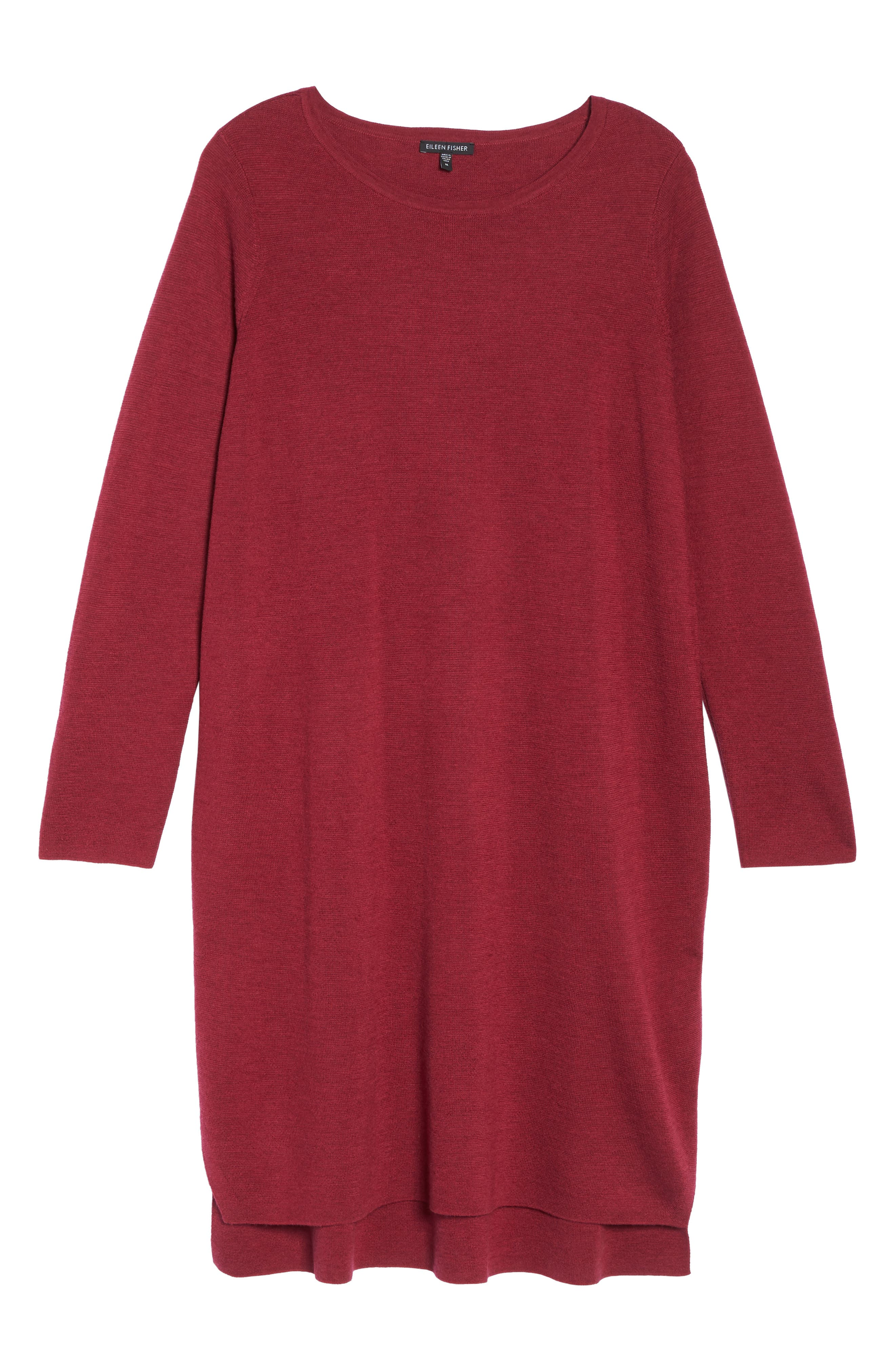 Merino Wool Sweater Dress,                             Alternate thumbnail 6, color,                             Hibiscus