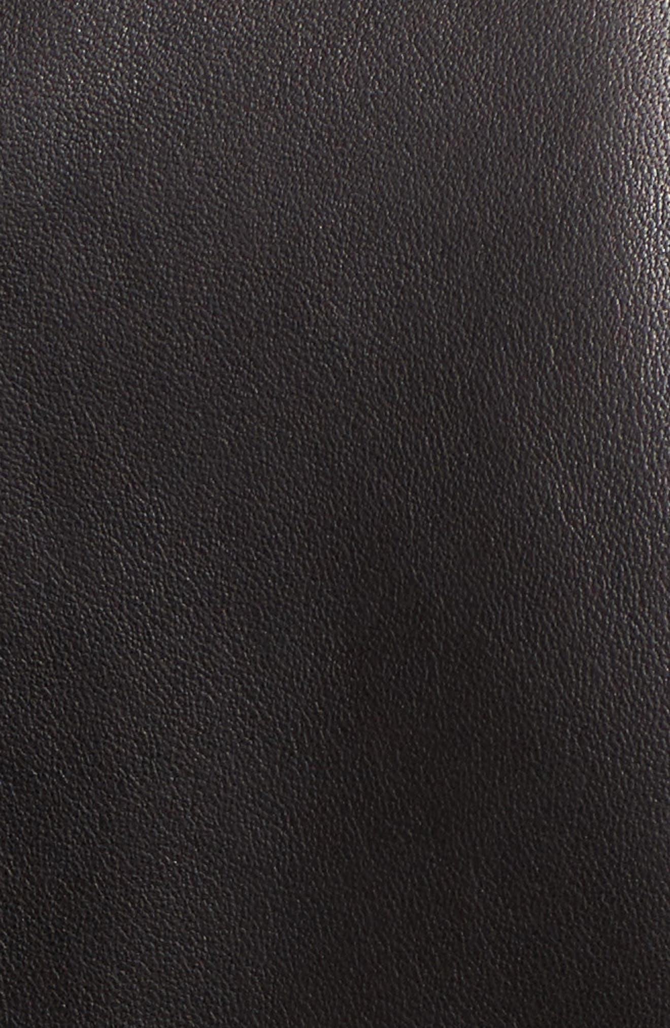 Easton Studded Leather Moto Jacket,                             Alternate thumbnail 5, color,                             Black