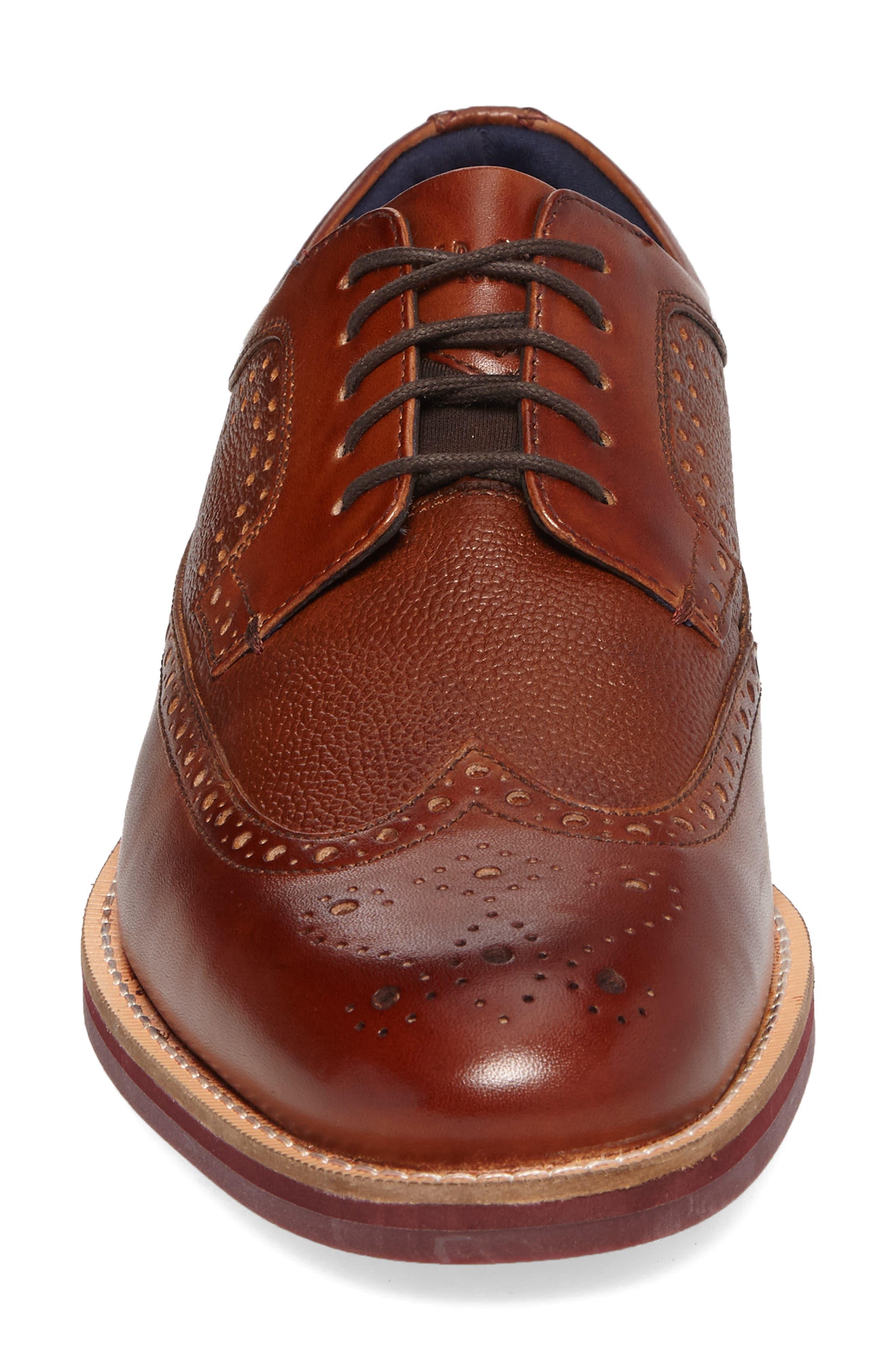 Deelani Longwing Derby,                             Alternate thumbnail 4, color,                             Tan Leather