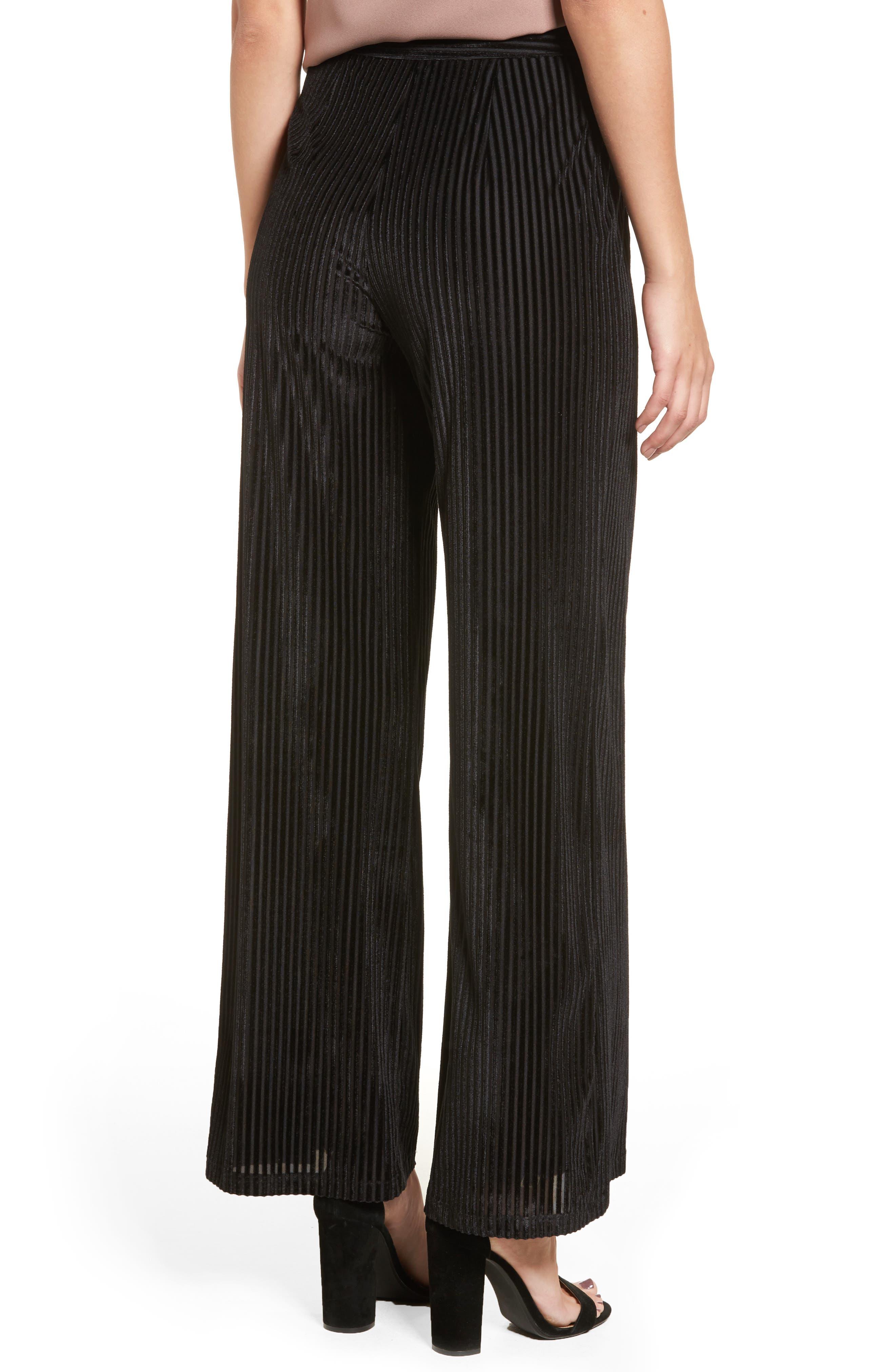 Marley Velvet Pants,                             Alternate thumbnail 2, color,                             Black