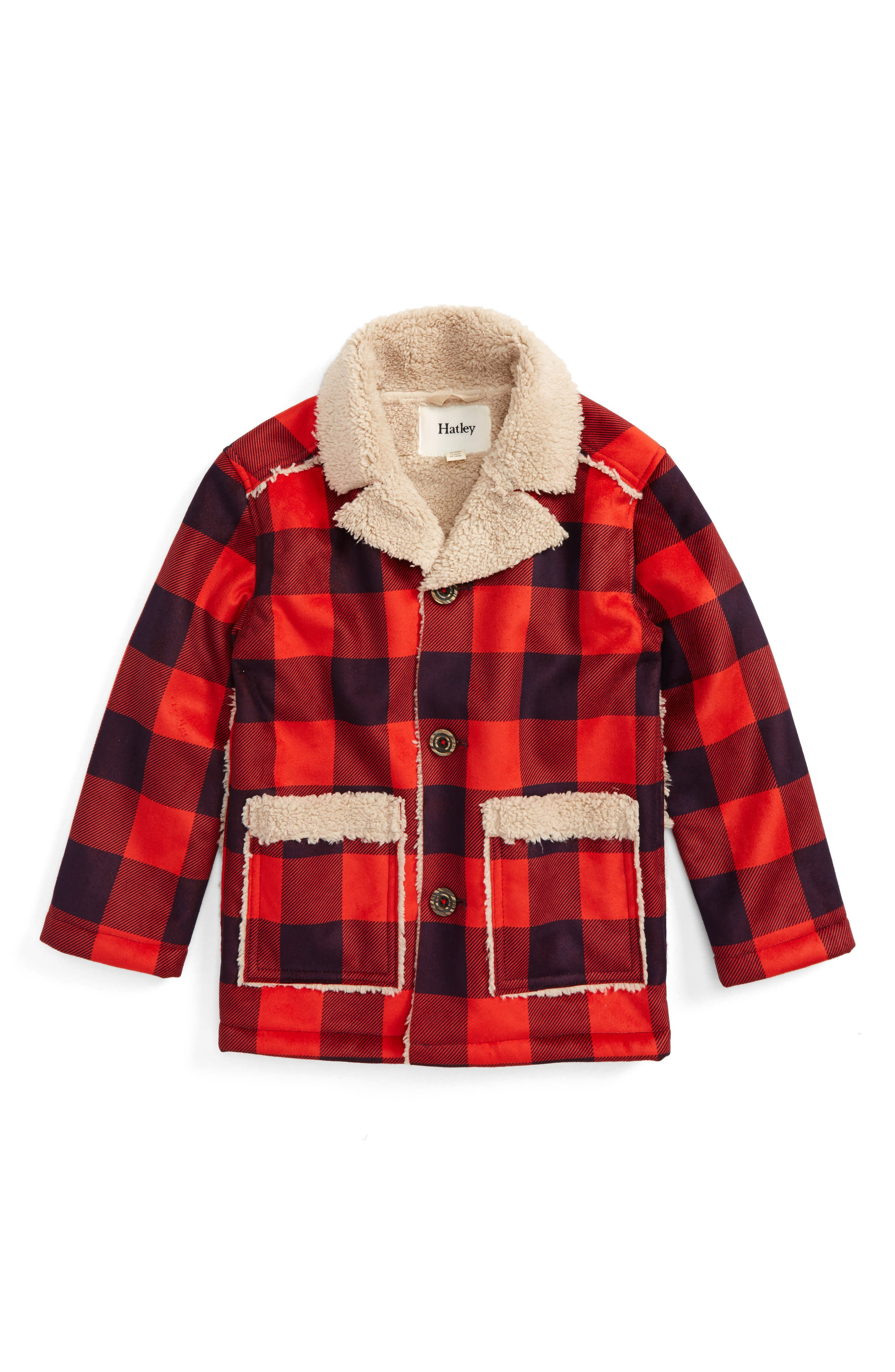 Hatley Faux Shearling Flannel Jacket (Toddler Boys, Little Boys & Big Boys)