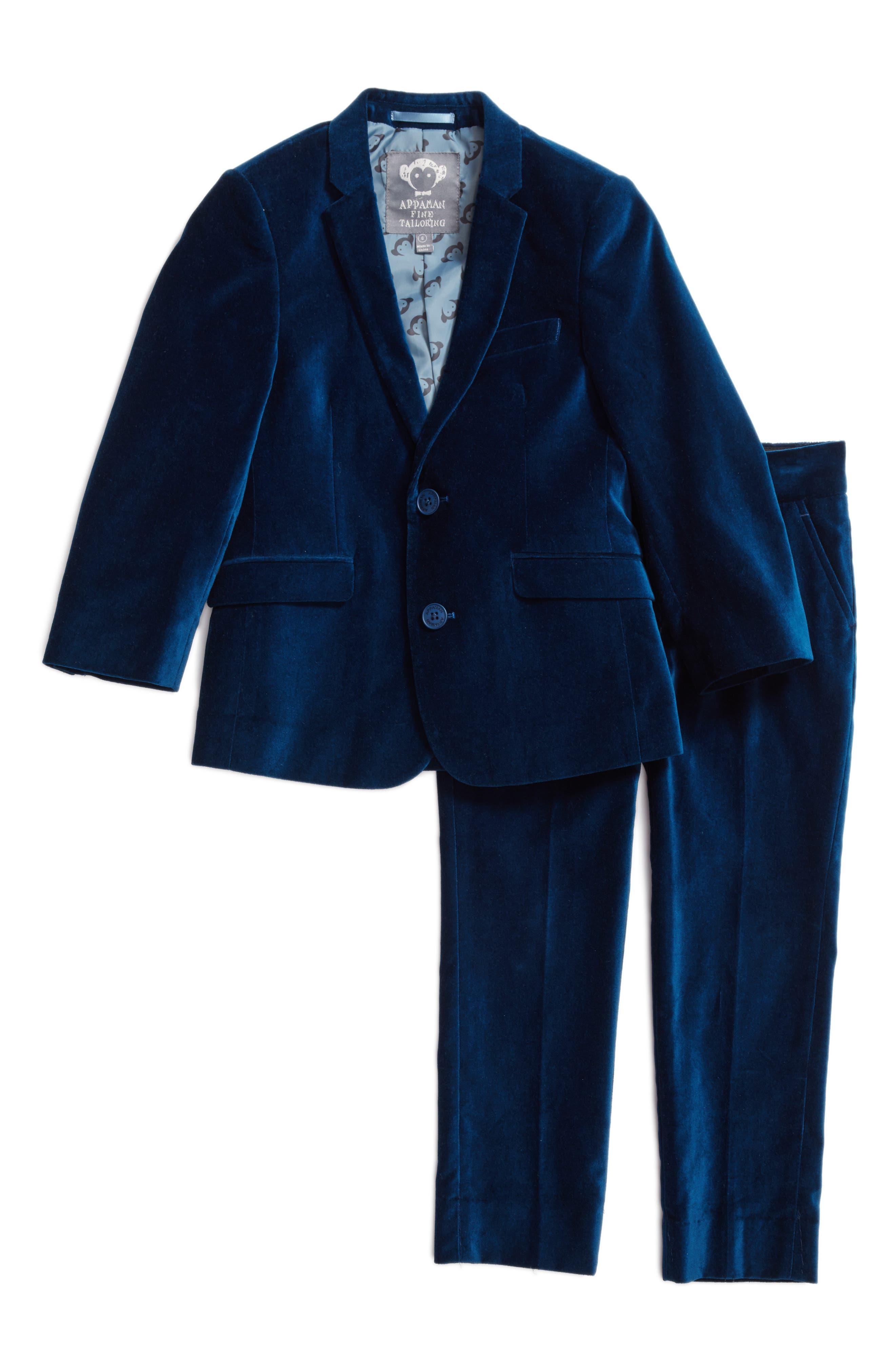 Mod Velvet Suit,                         Main,                         color, Seaport Velvet