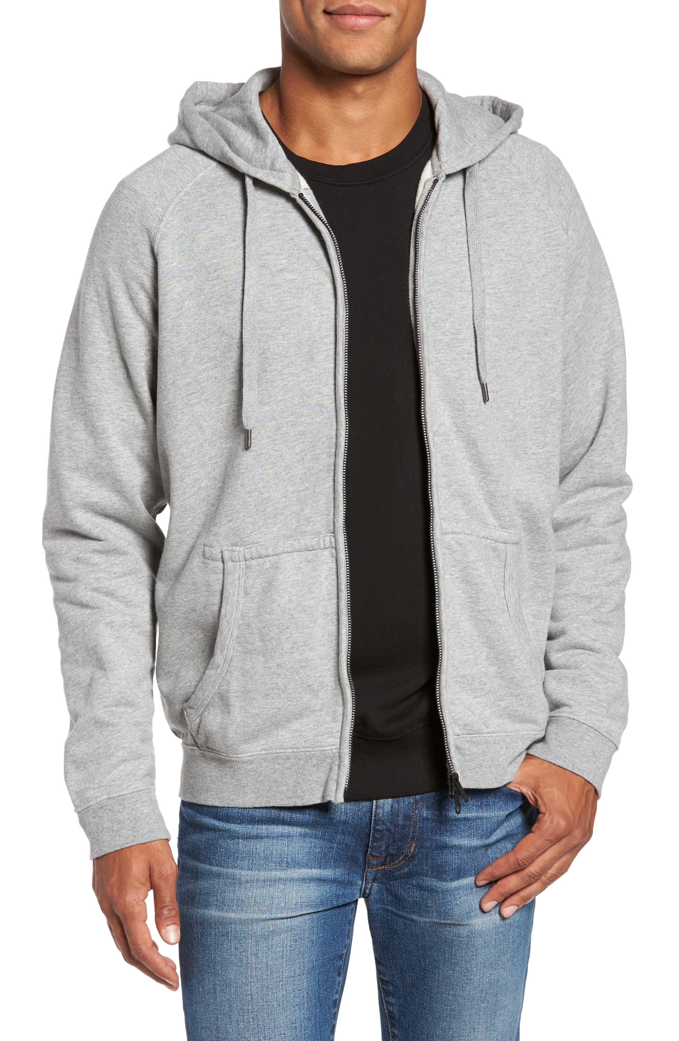 Main Image - FRAME French Terry Zip Hoodie