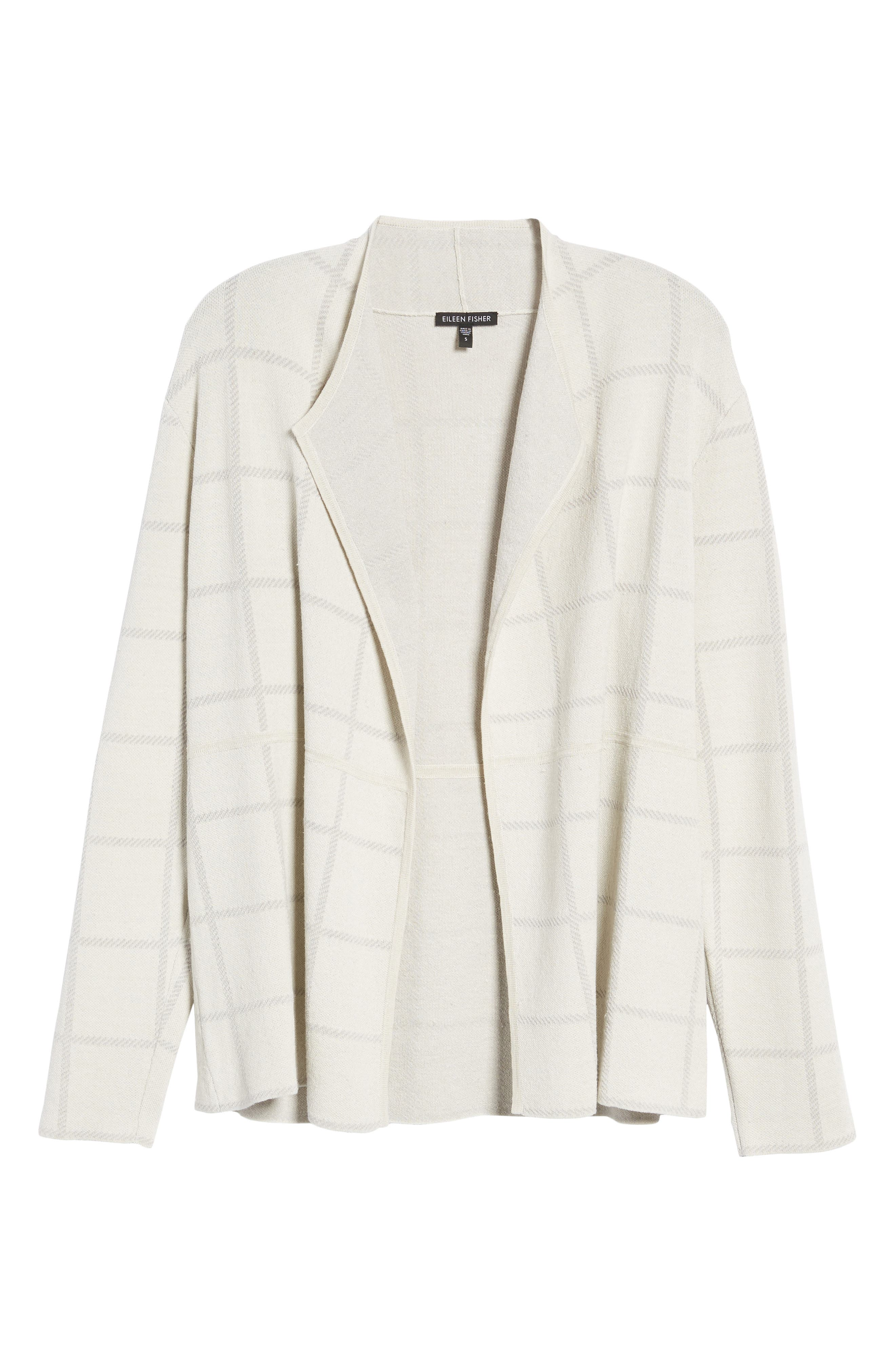 Alternate Image 6  - Eileen Fisher Linen Blend Angle Front Cardigan