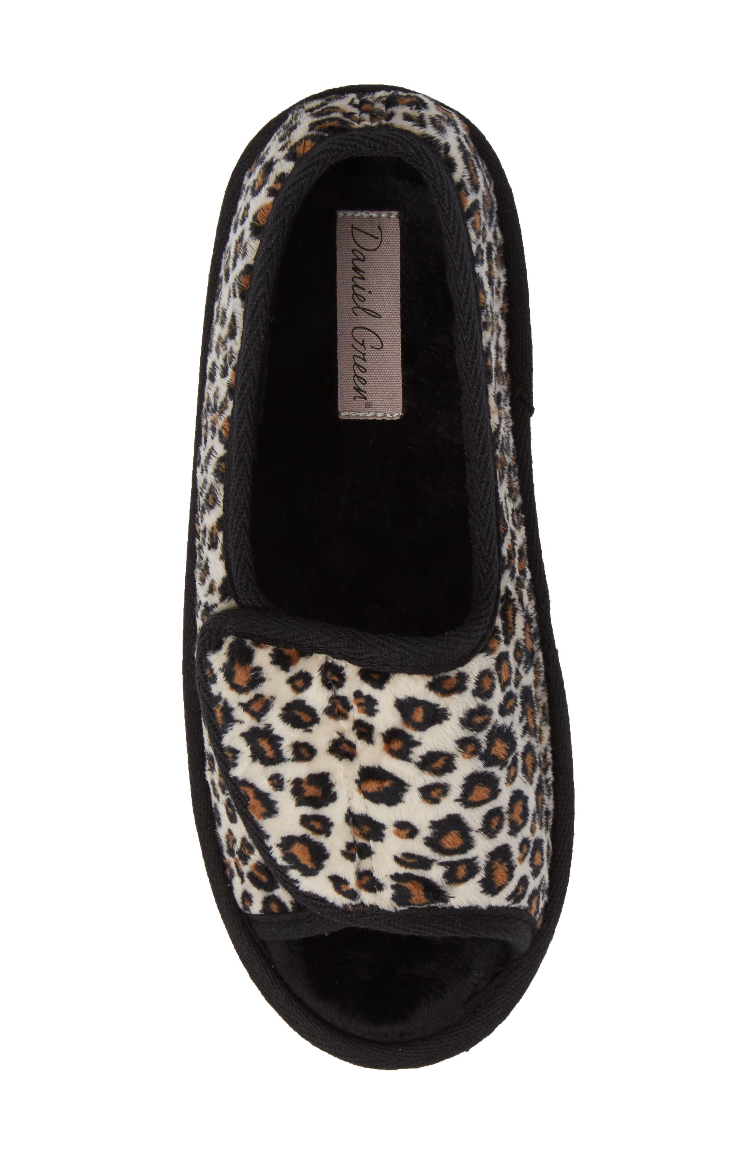 Tara II Slipper,                             Alternate thumbnail 5, color,                             Cheetah Fabric