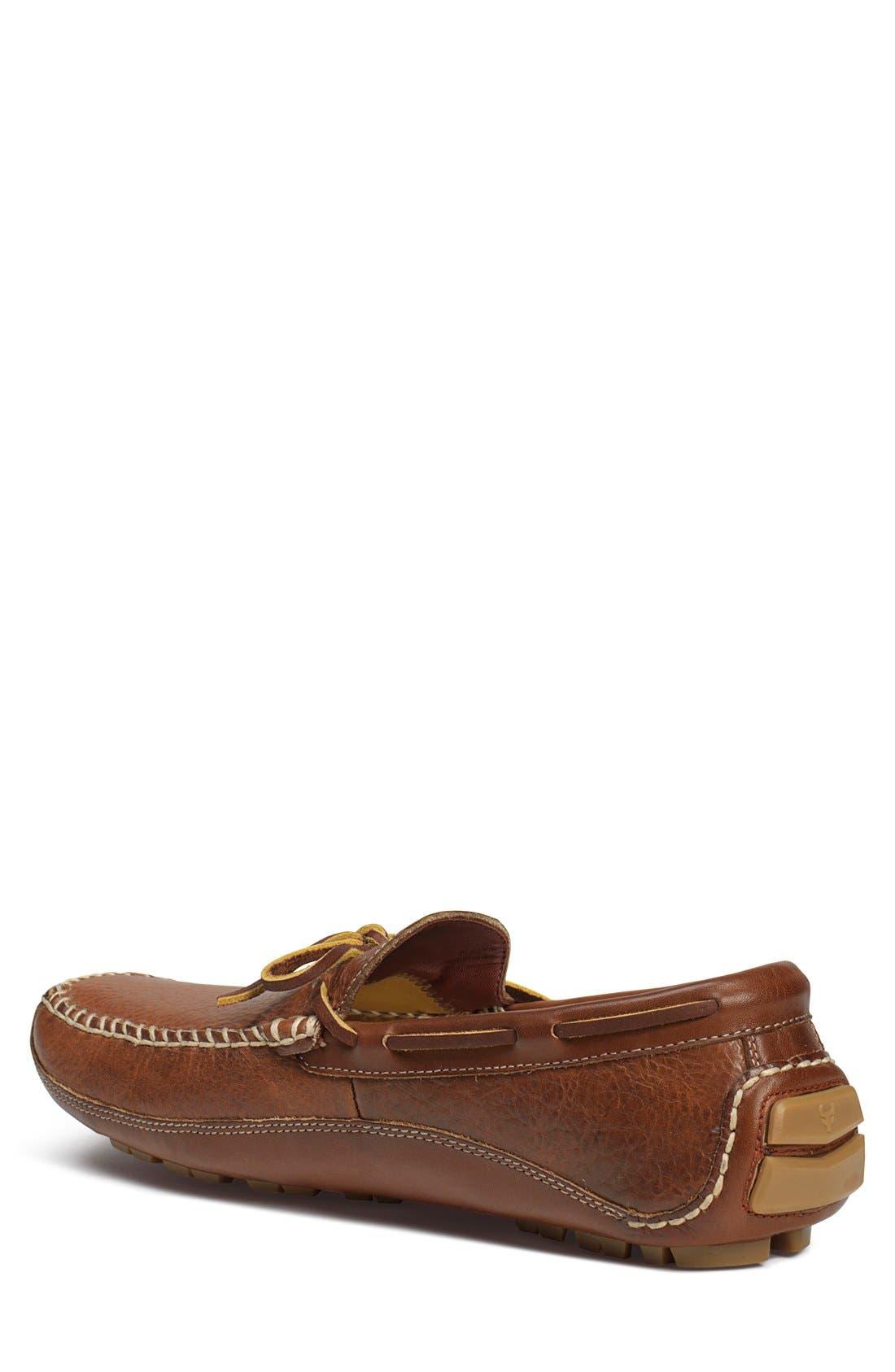 'Drake' Leather Driving Shoe,                             Alternate thumbnail 2, color,                             Saddle Tan
