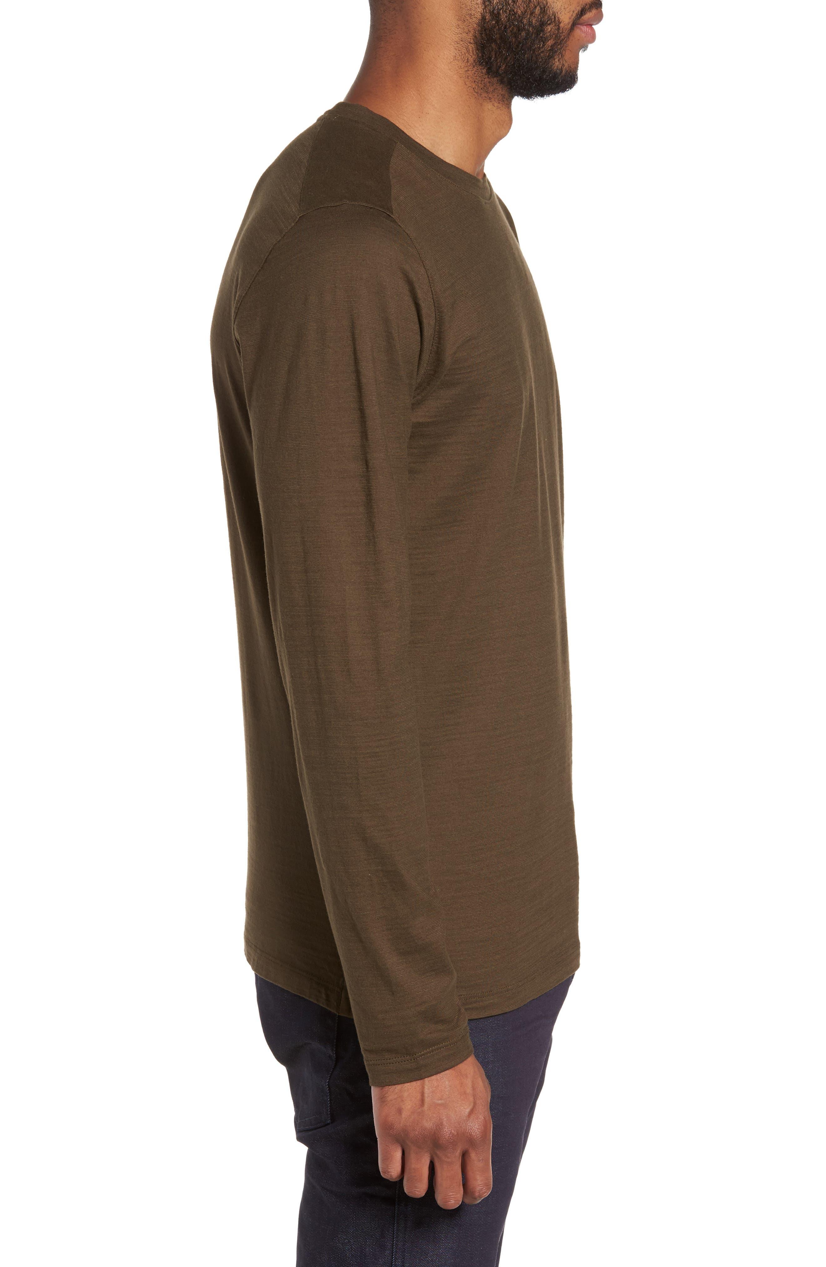 Tenison Long Sleeve T-Shirt,                             Alternate thumbnail 3, color,                             Olive