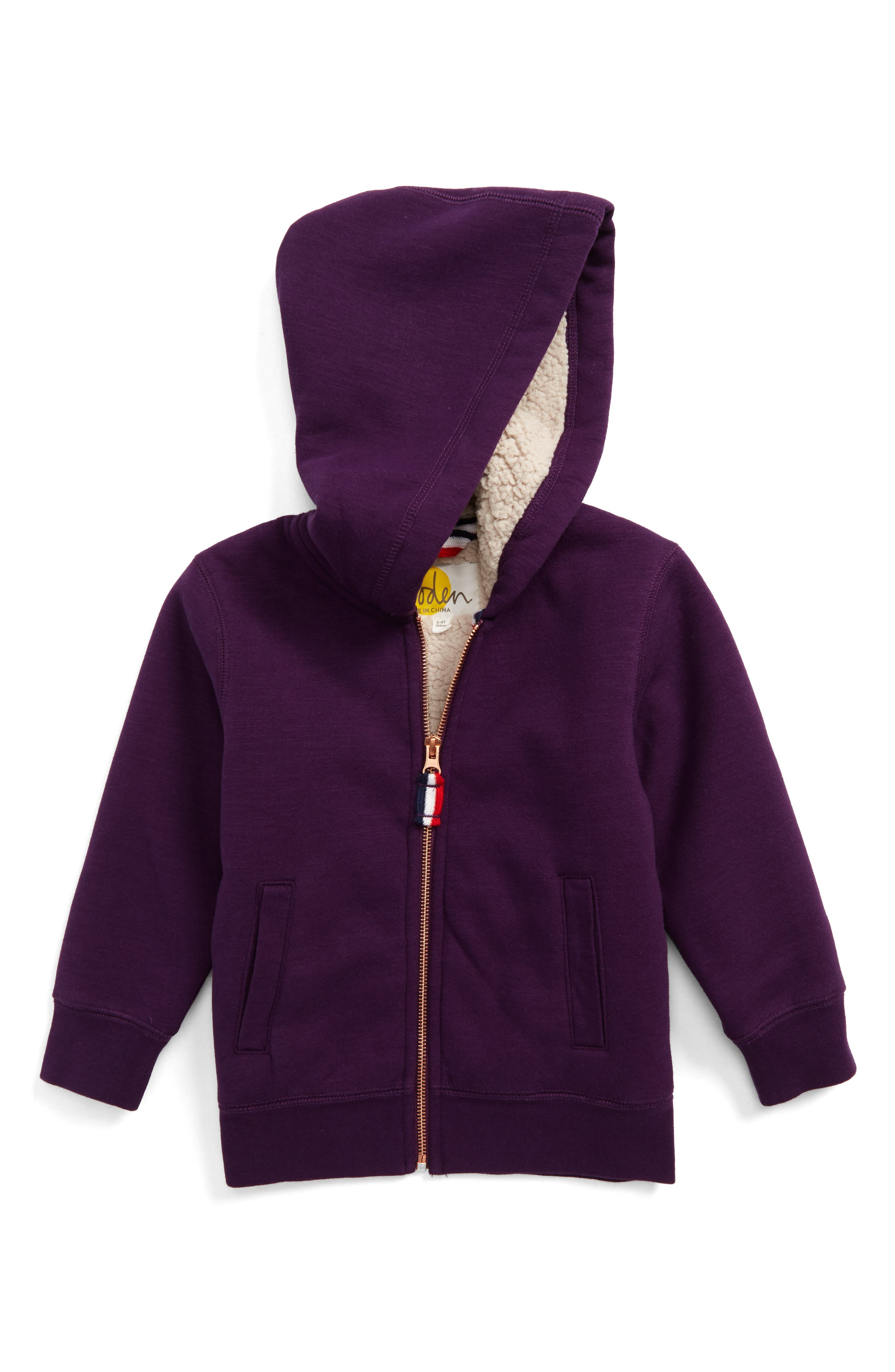 Mini Boden Zip-Up Hoodie (Toddler Boys, Little Boys & Big Boys)