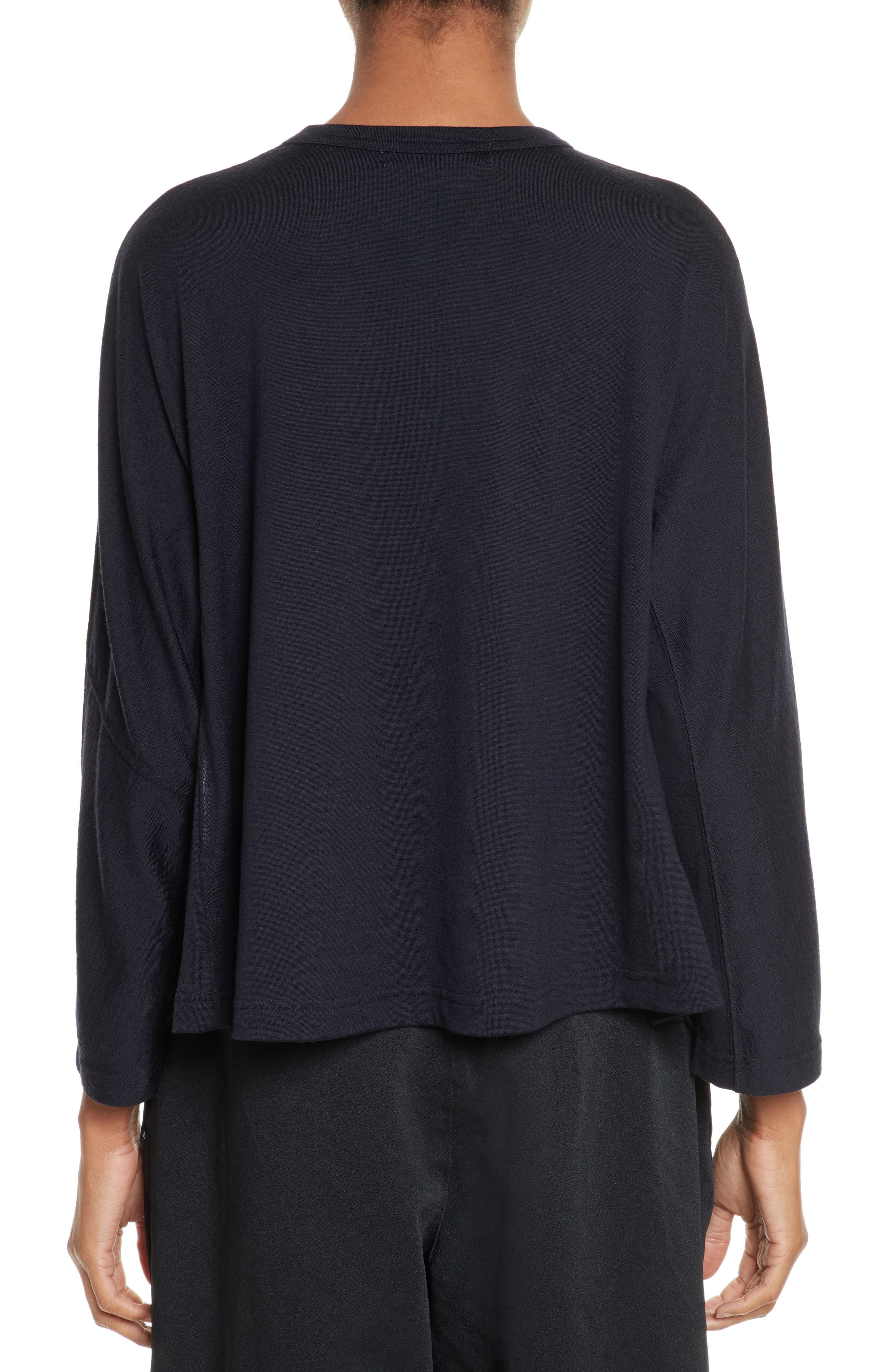 Alternate Image 2  - Comme des Garçons Ruffle Side Wool Pullover