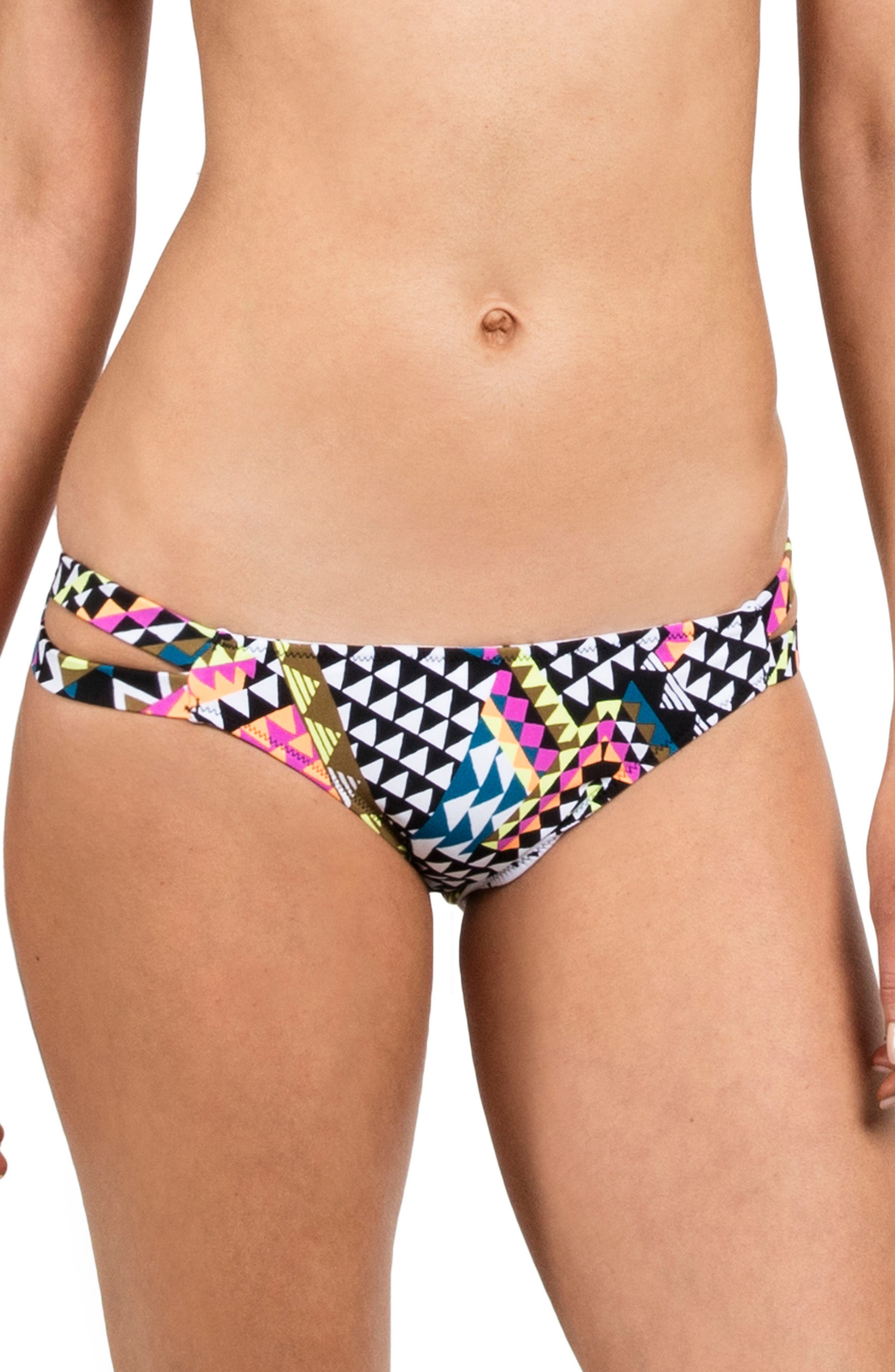 Spot On Print Bikini Bottoms,                         Main,                         color, White