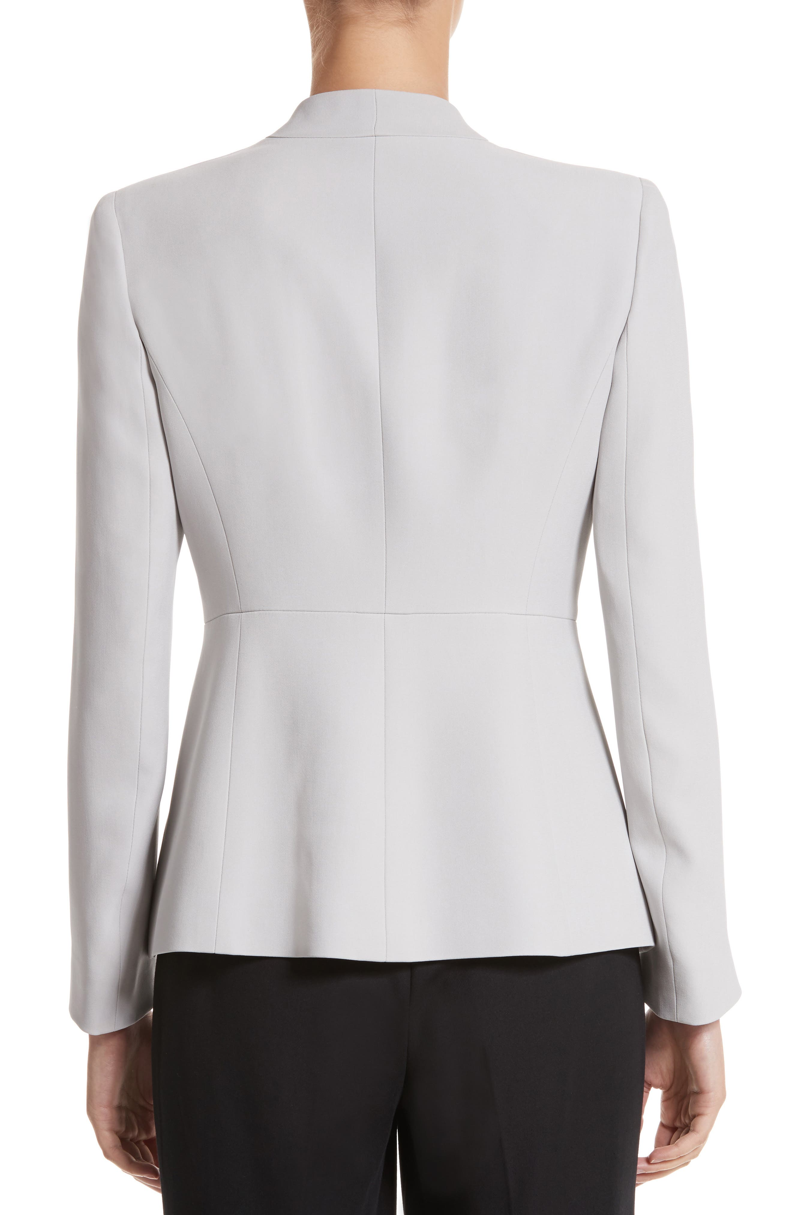 Alternate Image 2  - Armani Collezioni Asymmetrical Cady Jacket