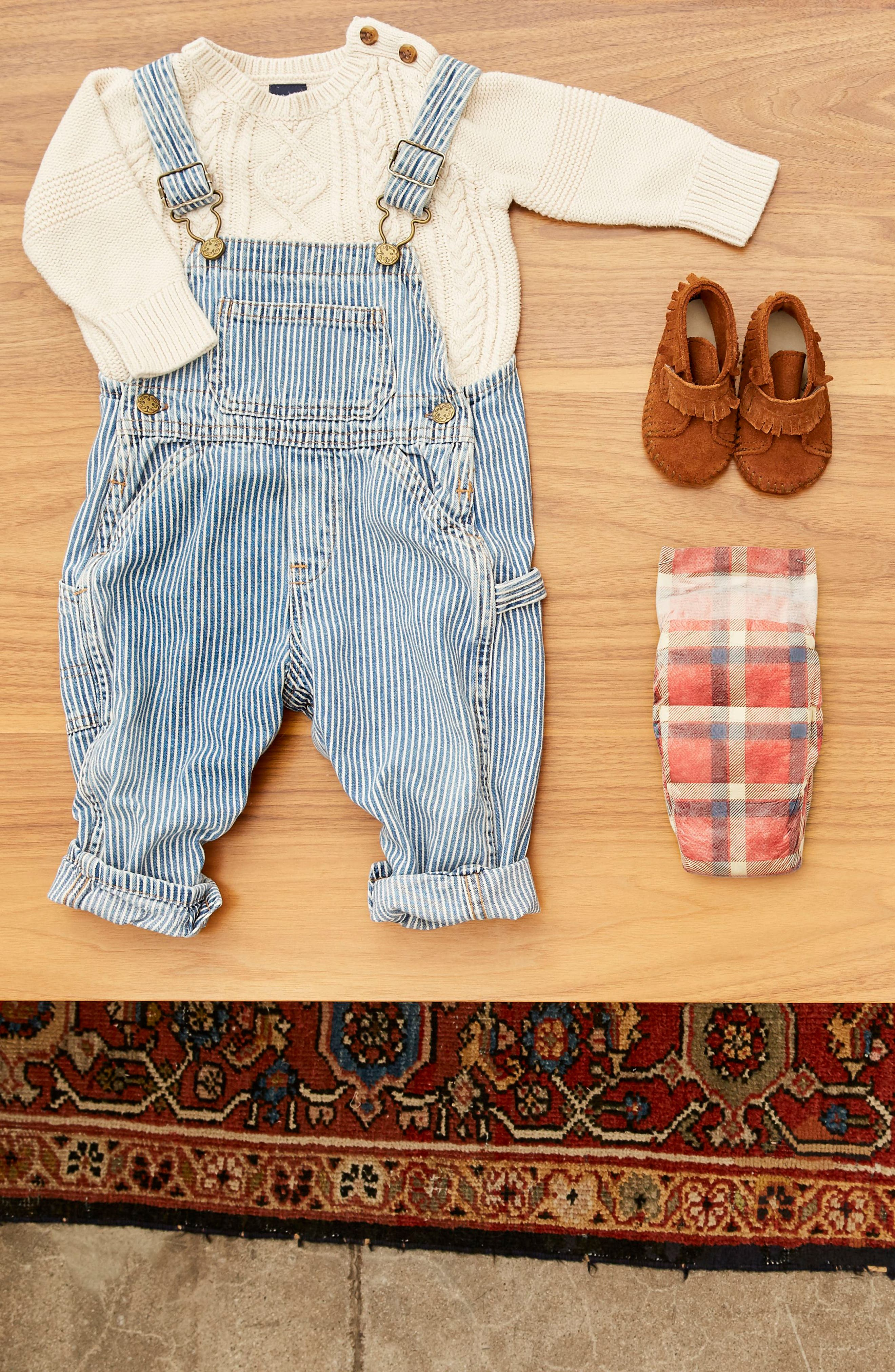 x THE GREAT. The Camper Plaid Diapers,                             Alternate thumbnail 3, color,                             Camper Plaid