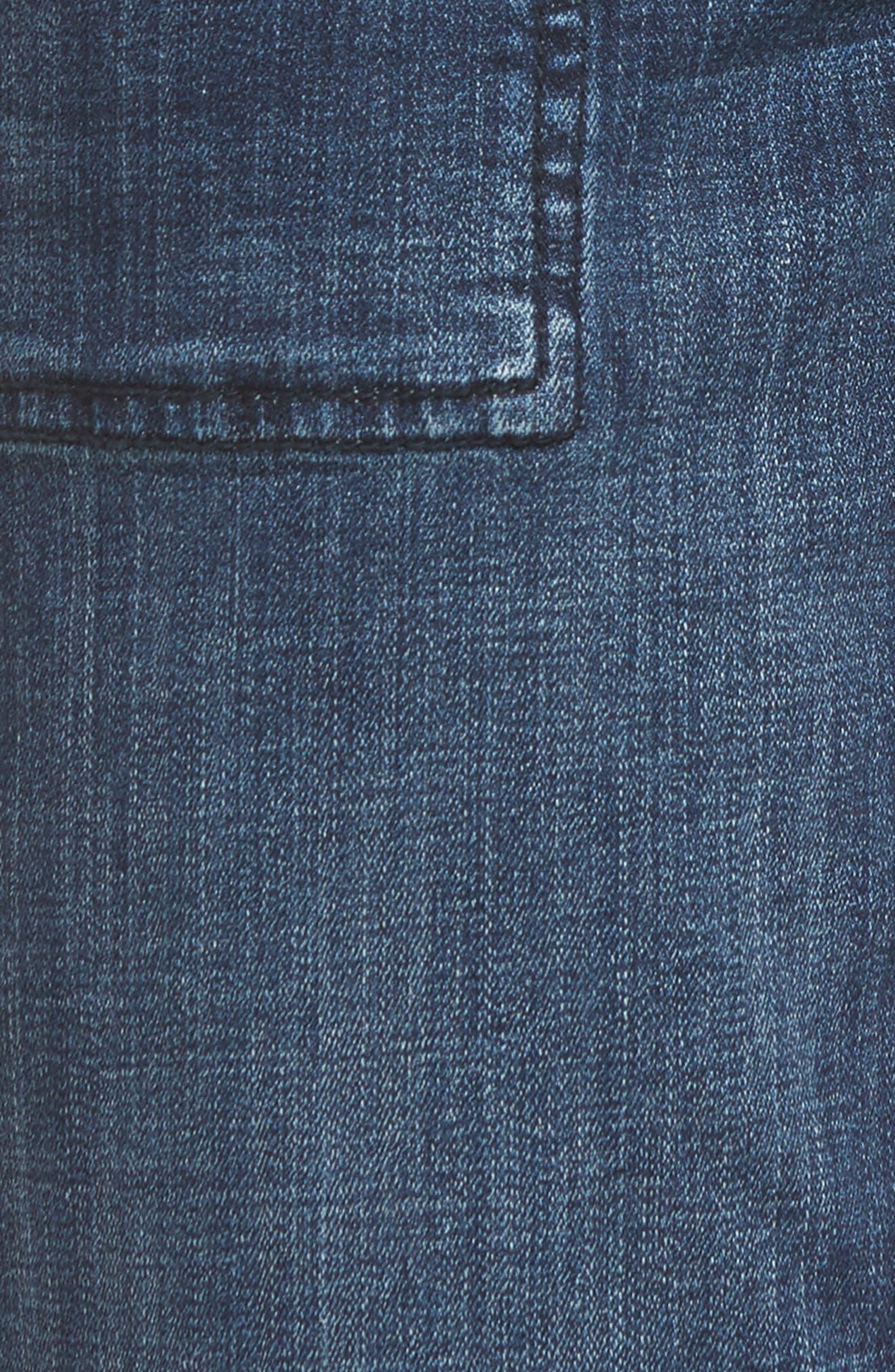 Alternate Image 5  - Jag Jeans Snyder Pull-On Wide Leg Jeans (Thorne Blue)