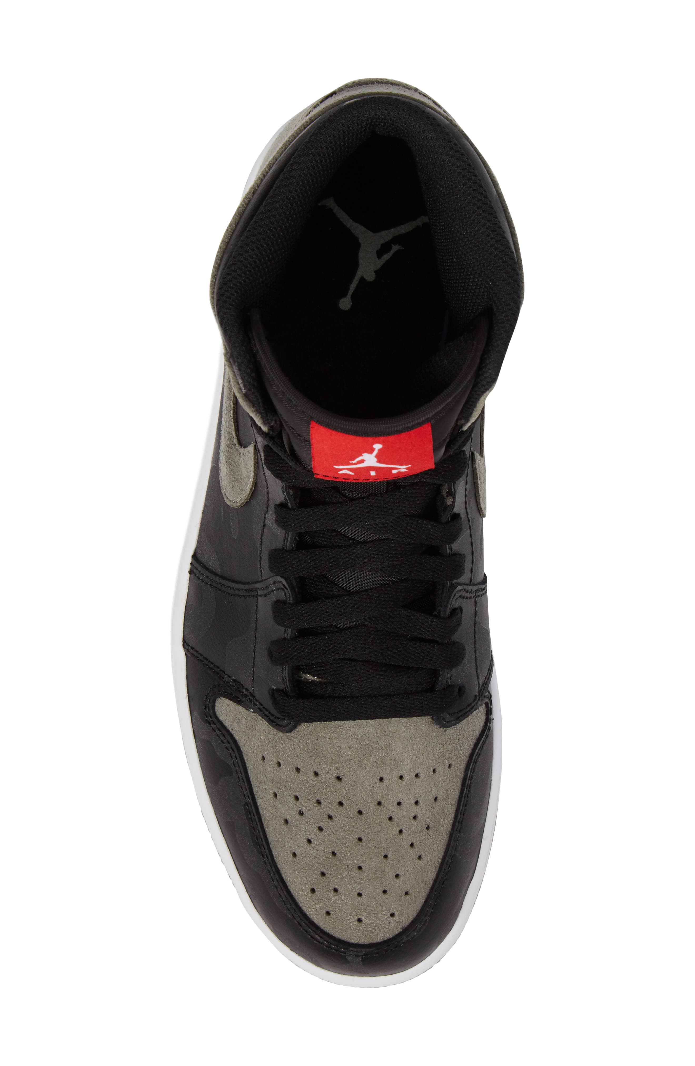 Air Jordan 1 Retro High Top Sneaker,                             Alternate thumbnail 5, color,                             Black/ Black