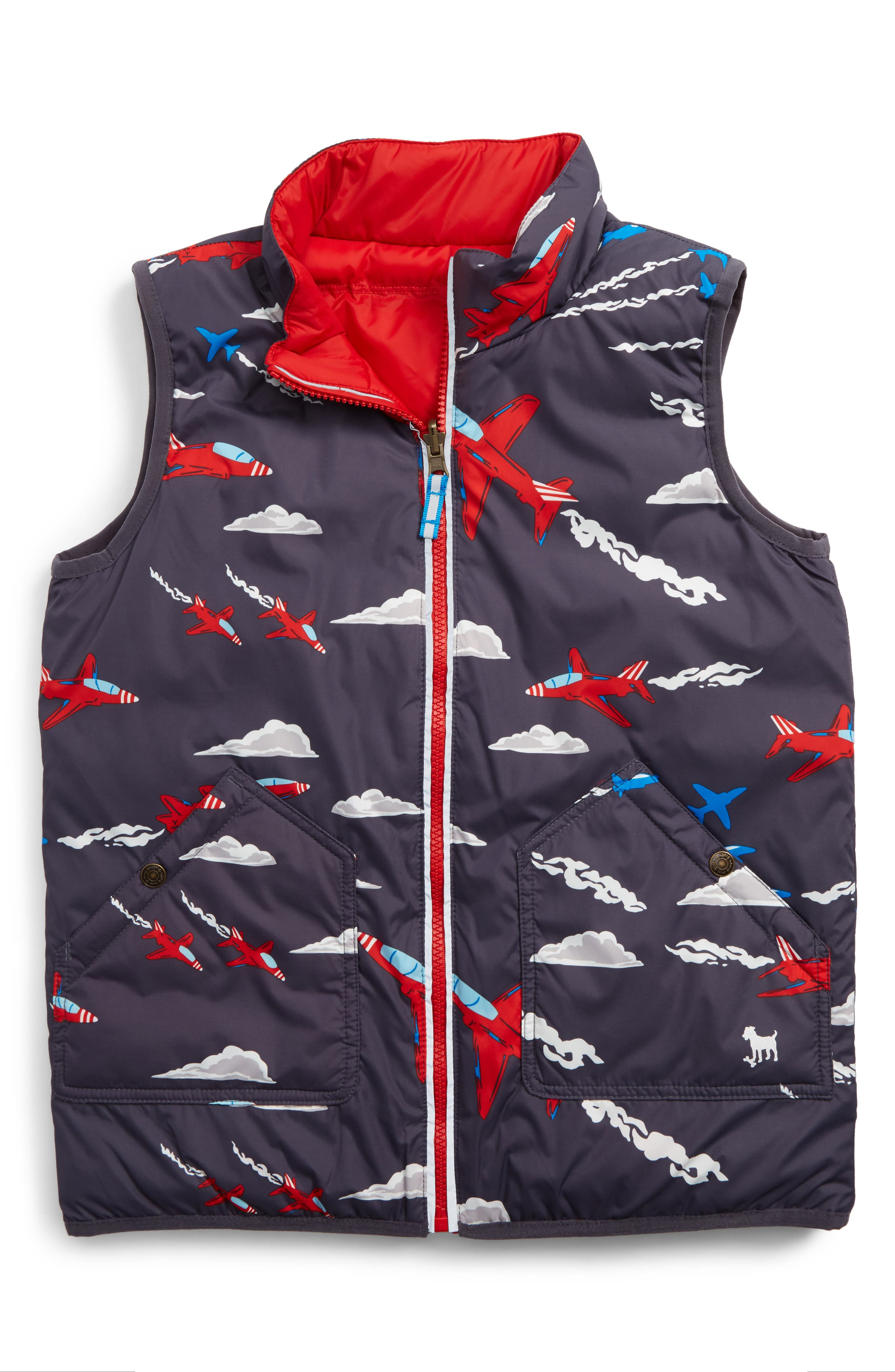 Mini Boden Reversible Vest (Toddler Boys, Little Boys & Big Boys)