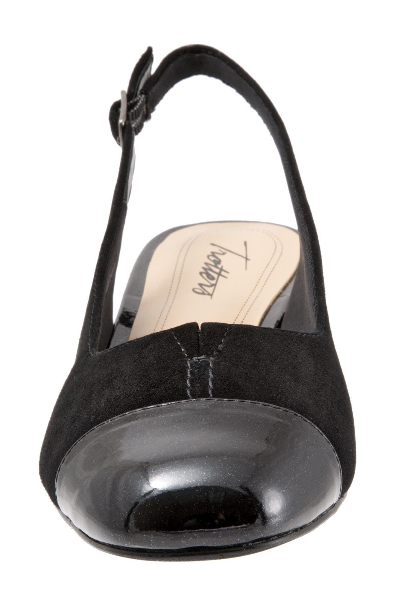 'Dea' Slingback,                             Alternate thumbnail 4, color,                             Black Leather