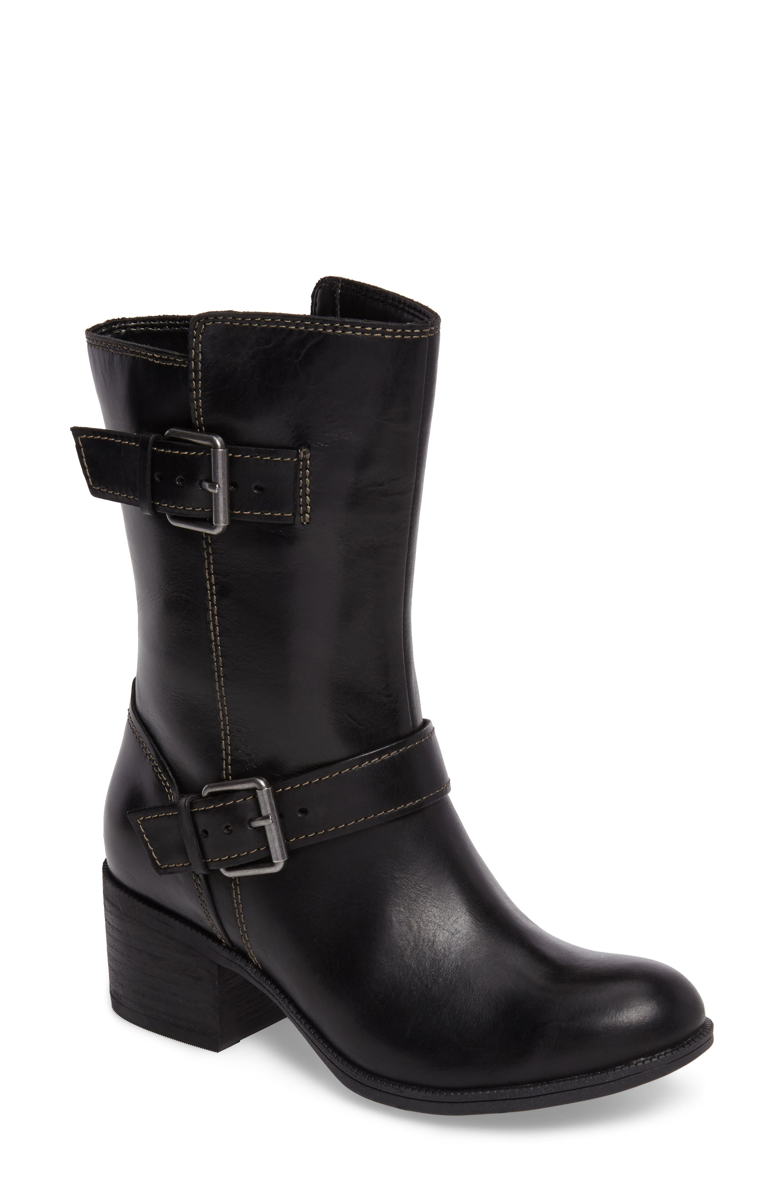 Maypearl Oasis Boot,                             Main thumbnail 1, color,                             Black Leather