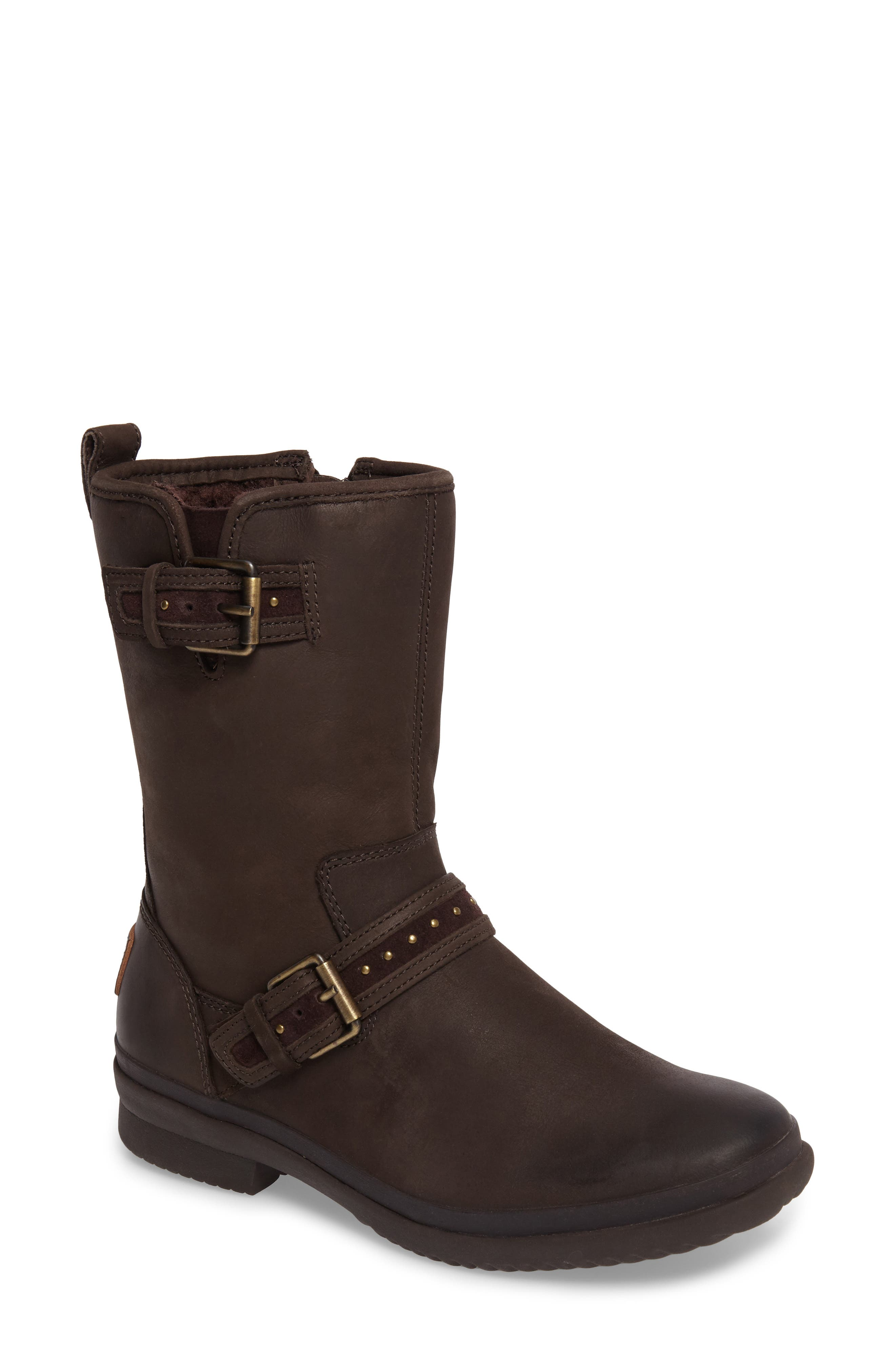 Jenise Waterproof Boot,                             Main thumbnail 1, color,                             Stout Leather