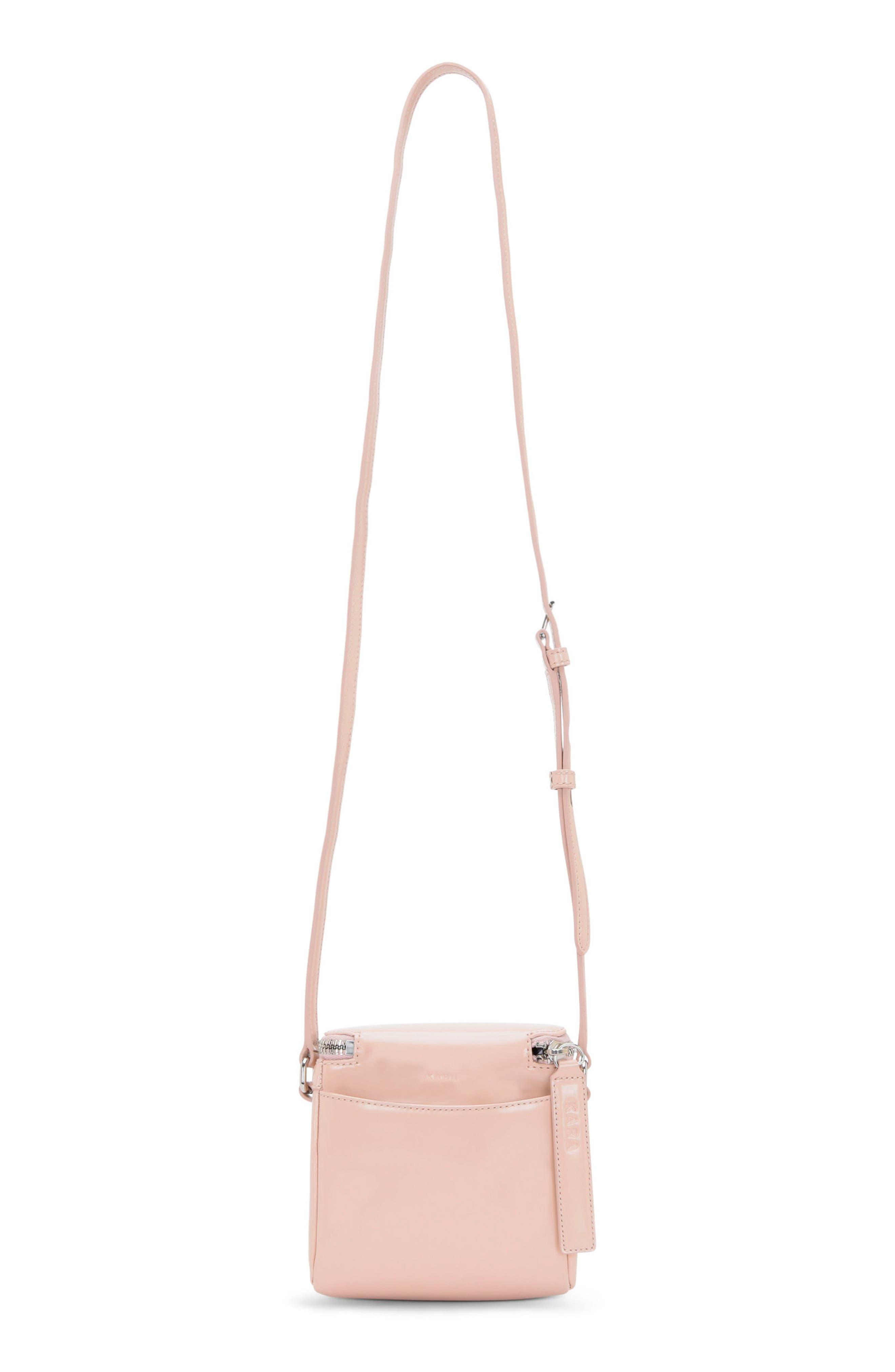 Stowaway Leather Crossbody Bag,                             Alternate thumbnail 2, color,                             Dusty Pink