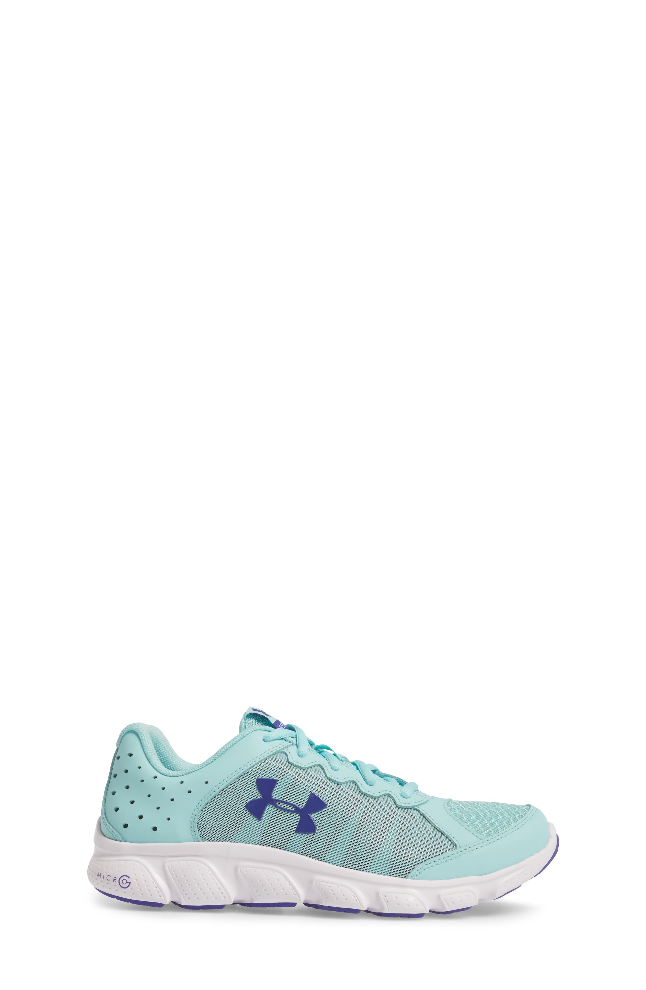 'Micro G<sup>®</sup> Assert VI' Running Shoe,                             Alternate thumbnail 3, color,                             Blue Infinity/ White