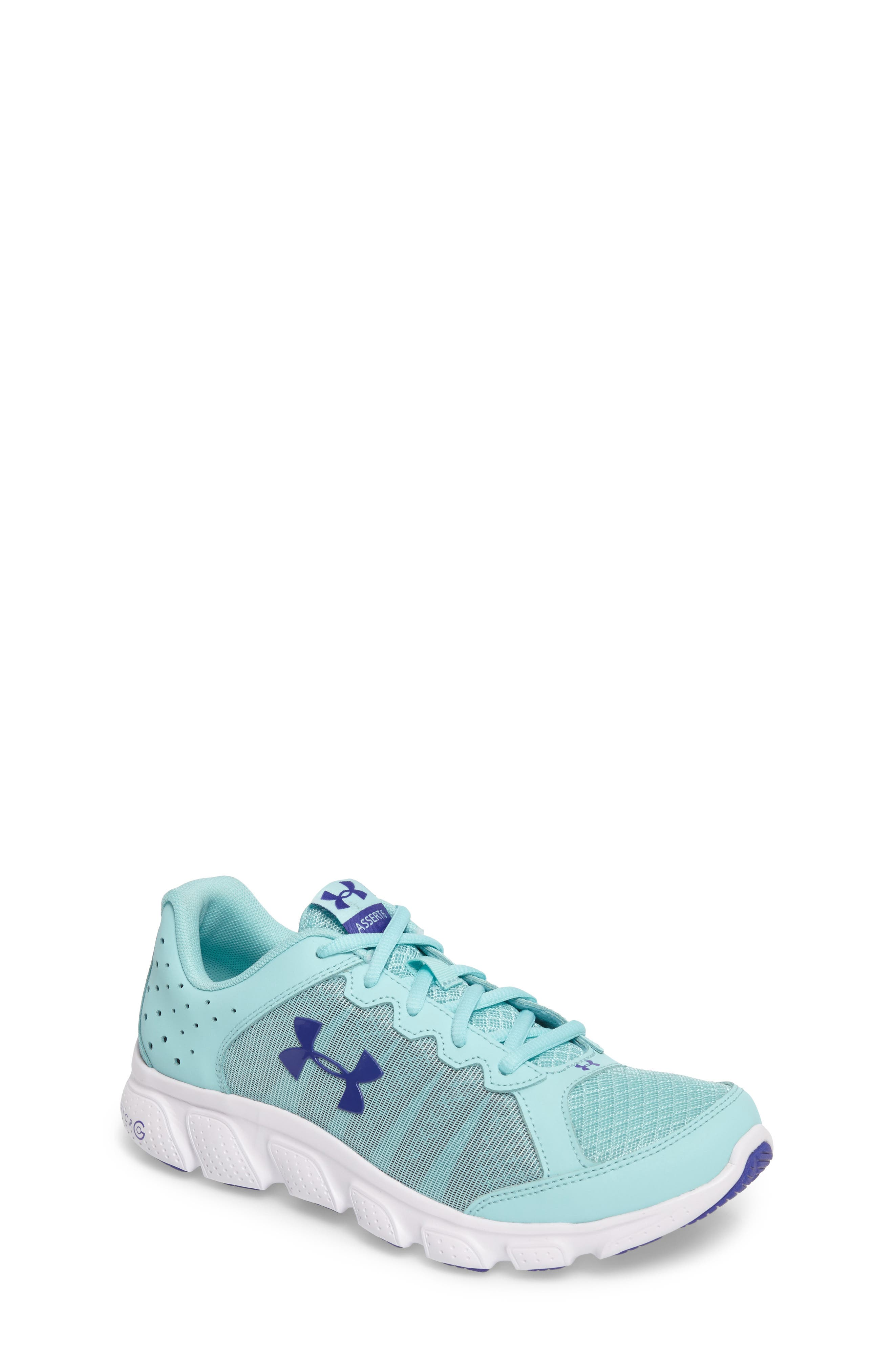 'Micro G<sup>®</sup> Assert VI' Running Shoe,                         Main,                         color, Blue Infinity/ White