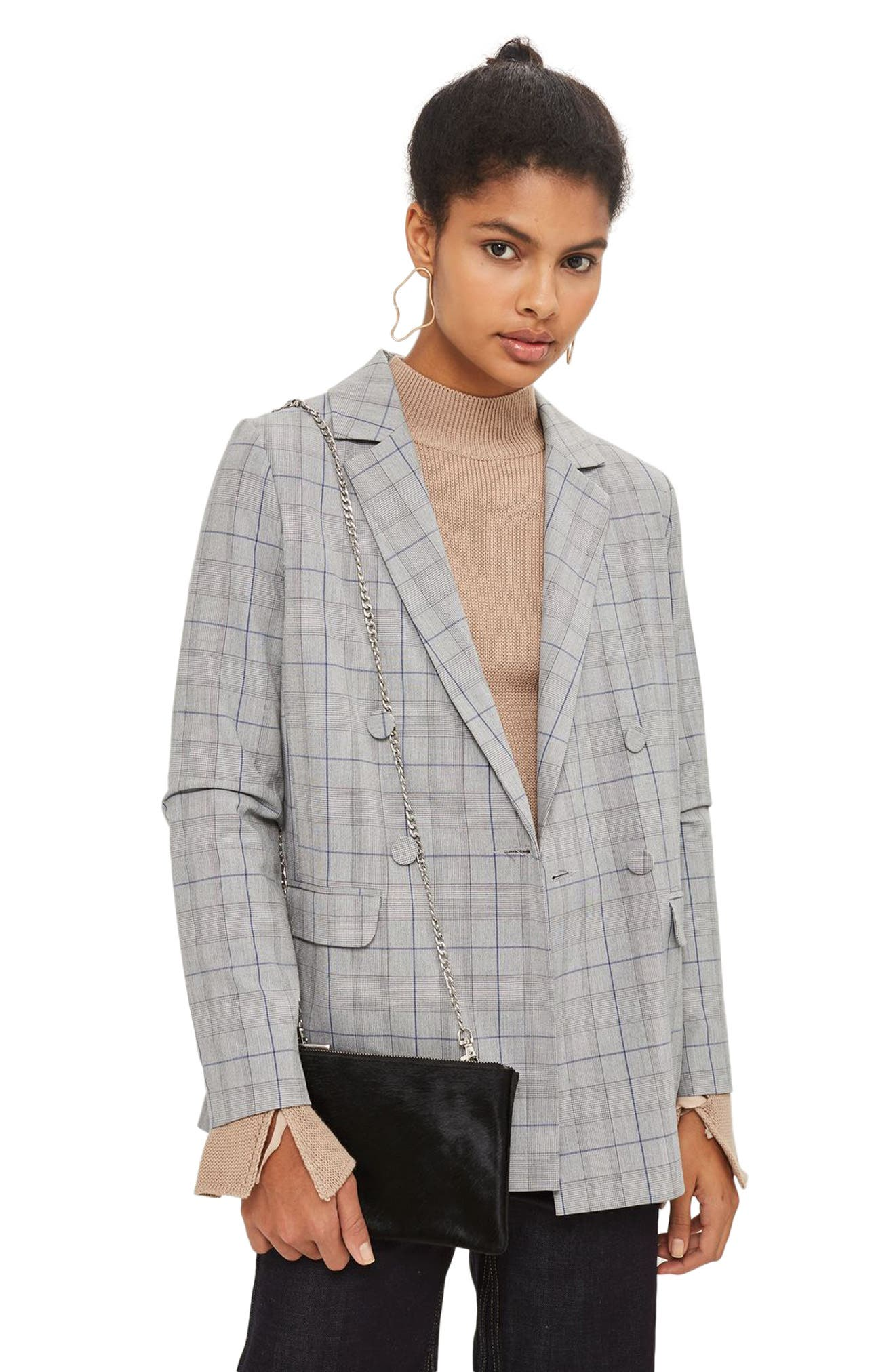 Alternate Image 2  - Topshop Oakley Leather & Genuine Calf Hair Crossbody Bag
