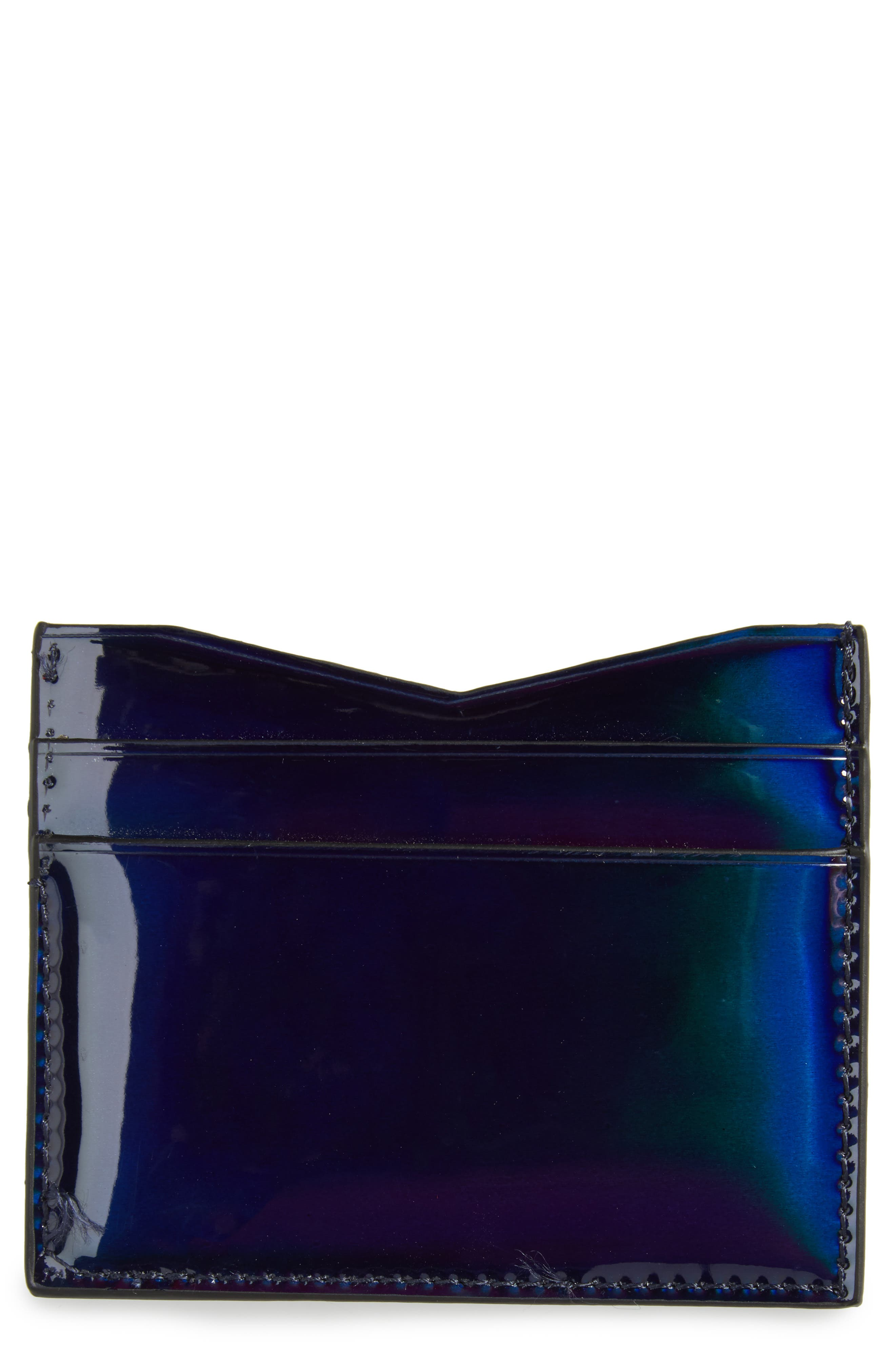 Emma Card Case,                             Main thumbnail 1, color,                             Black Iridescent