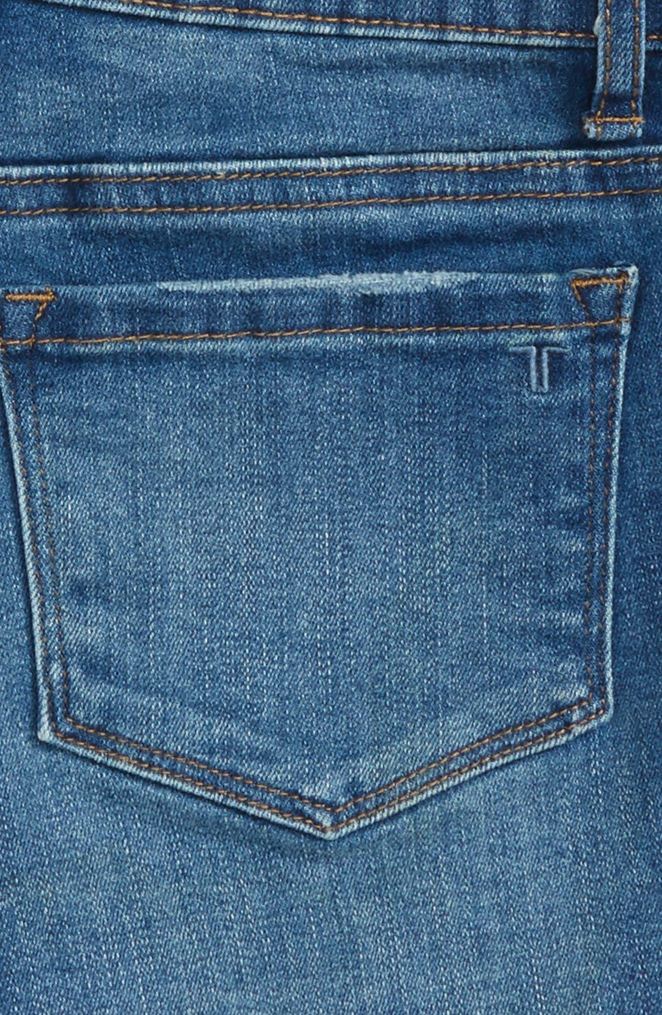Alternate Image 3  - Tractr Distressed Cutoff Denim Shorts (Big Girls)