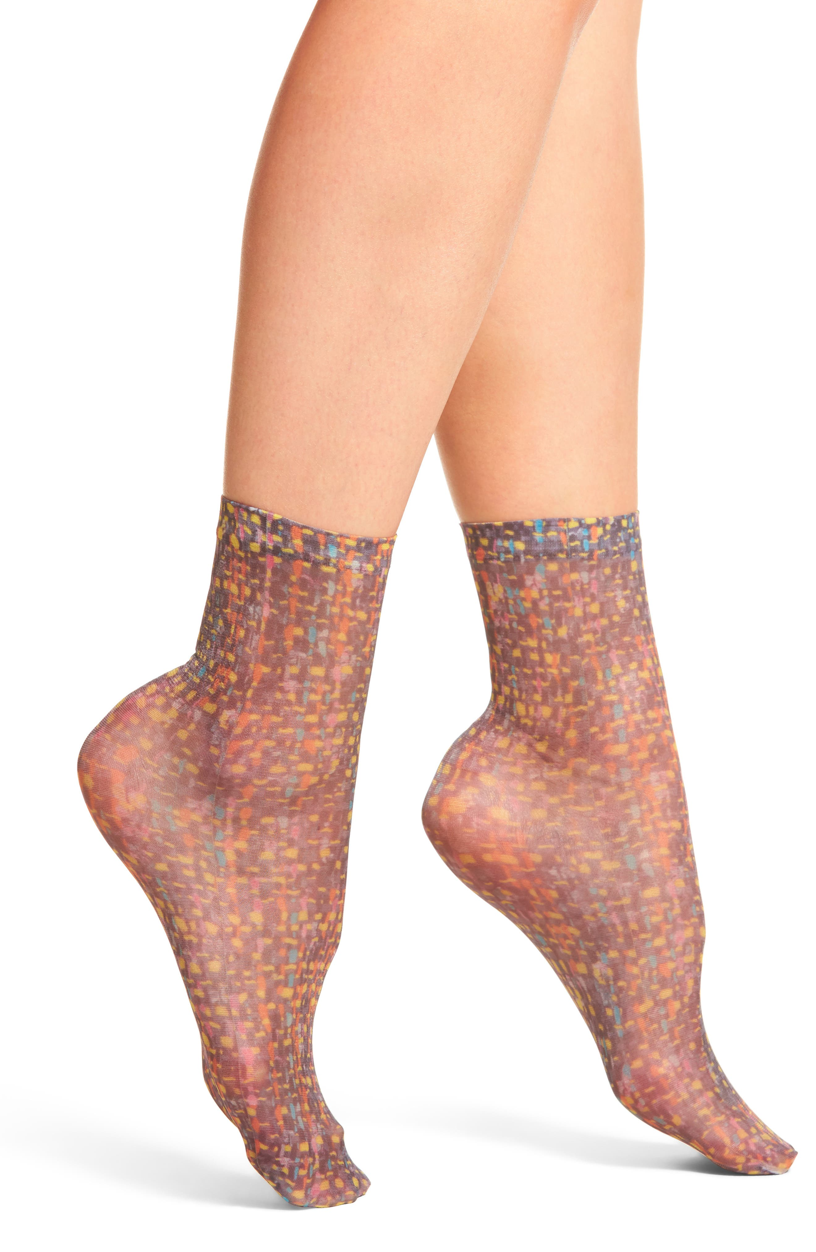 Maddy Ankle Socks,                         Main,                         color, Pink