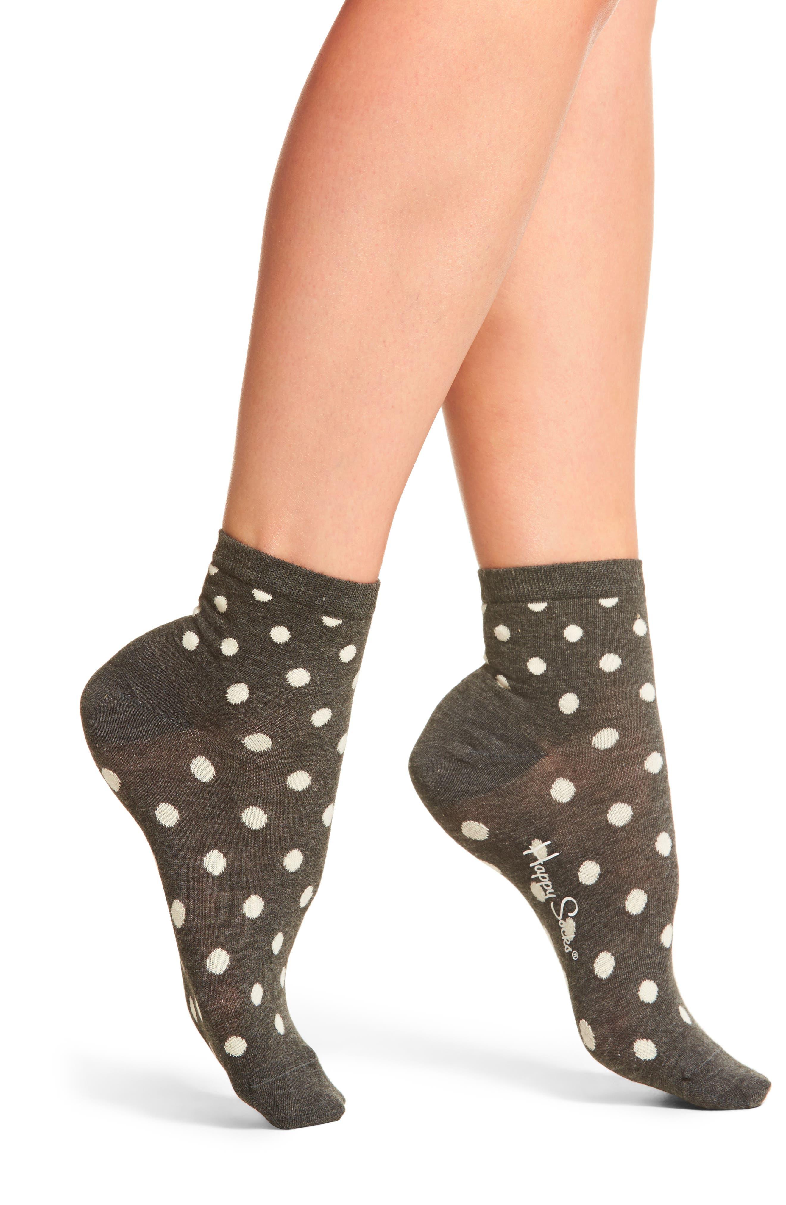Main Image - Happy Socks Dot Anklet Socks (3 for $24)