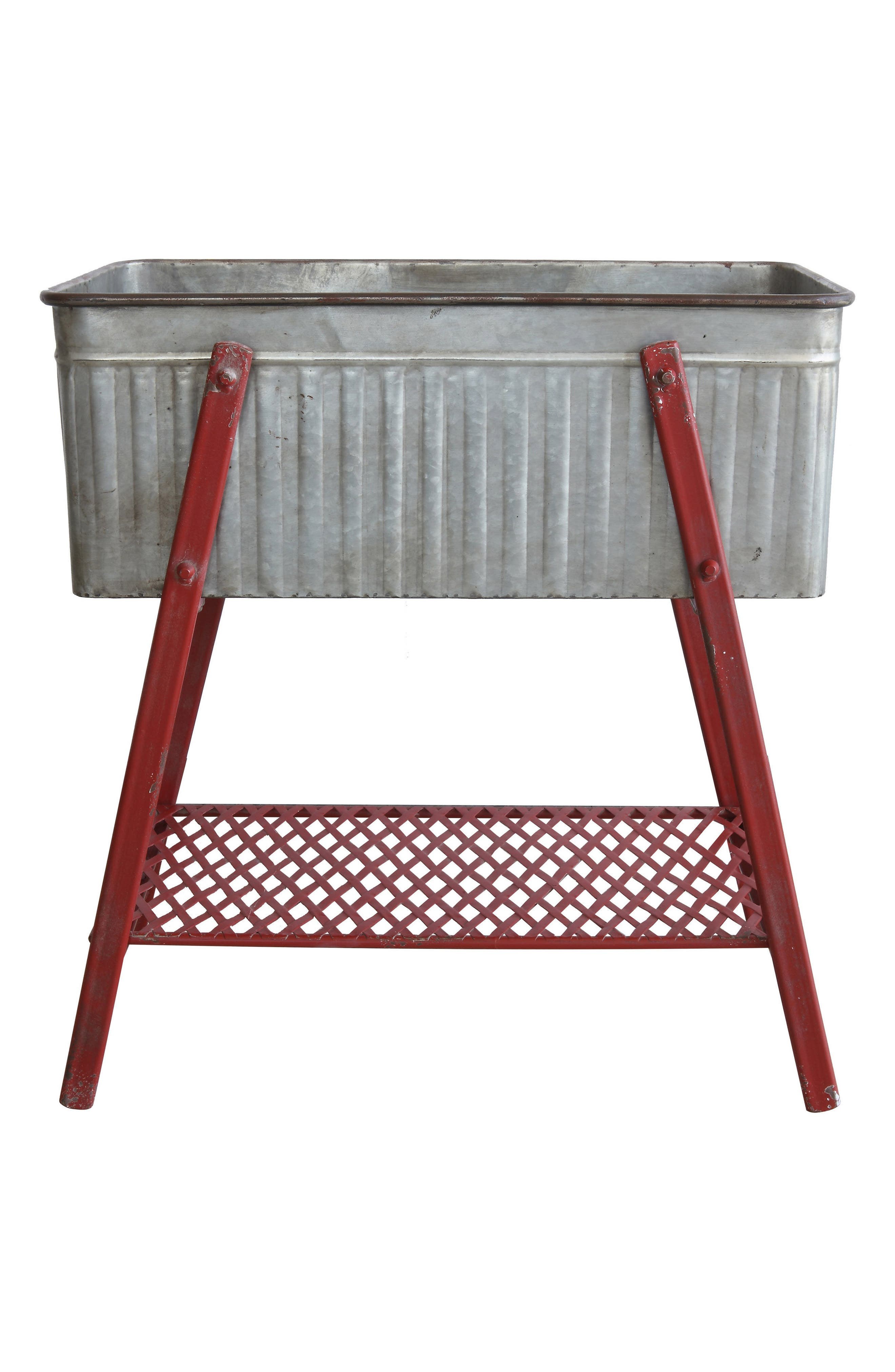 Metal Beverage Tub,                             Main thumbnail 1, color,                             Red