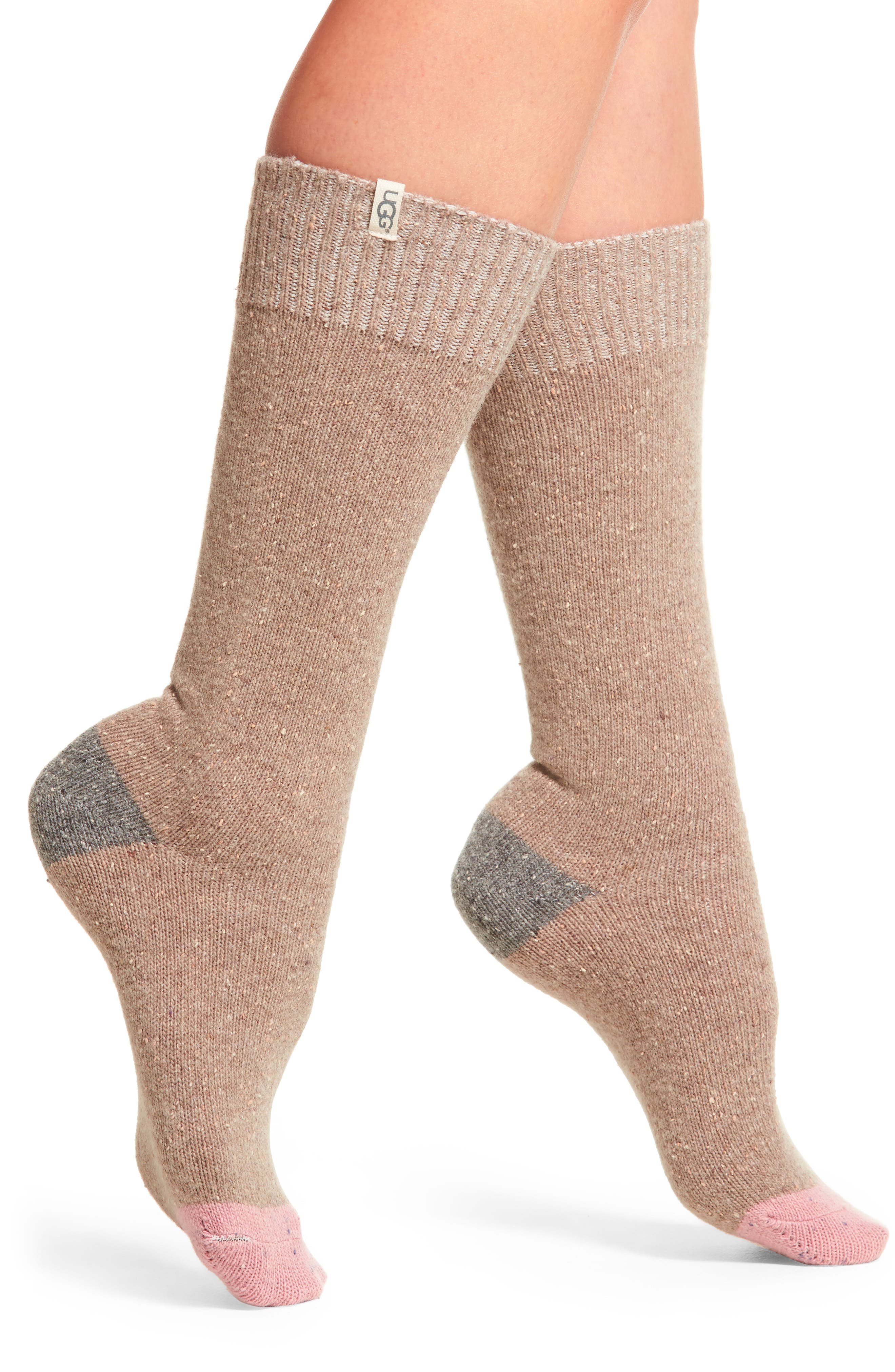 UGG® Colorblock Wool Blend Socks