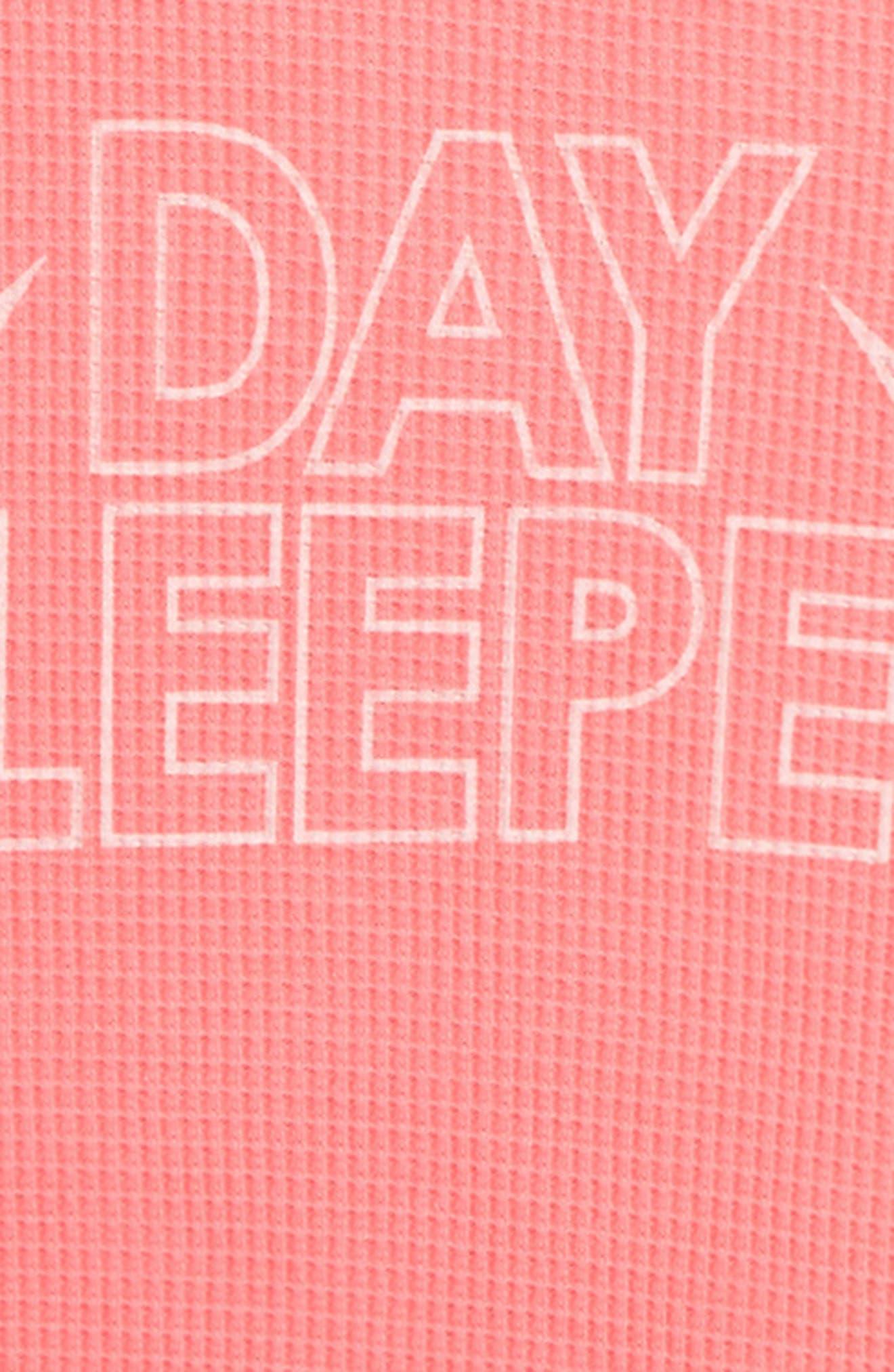 Alternate Image 2  - Wildfox Day Sleeper Thermal Top (Big Girls)