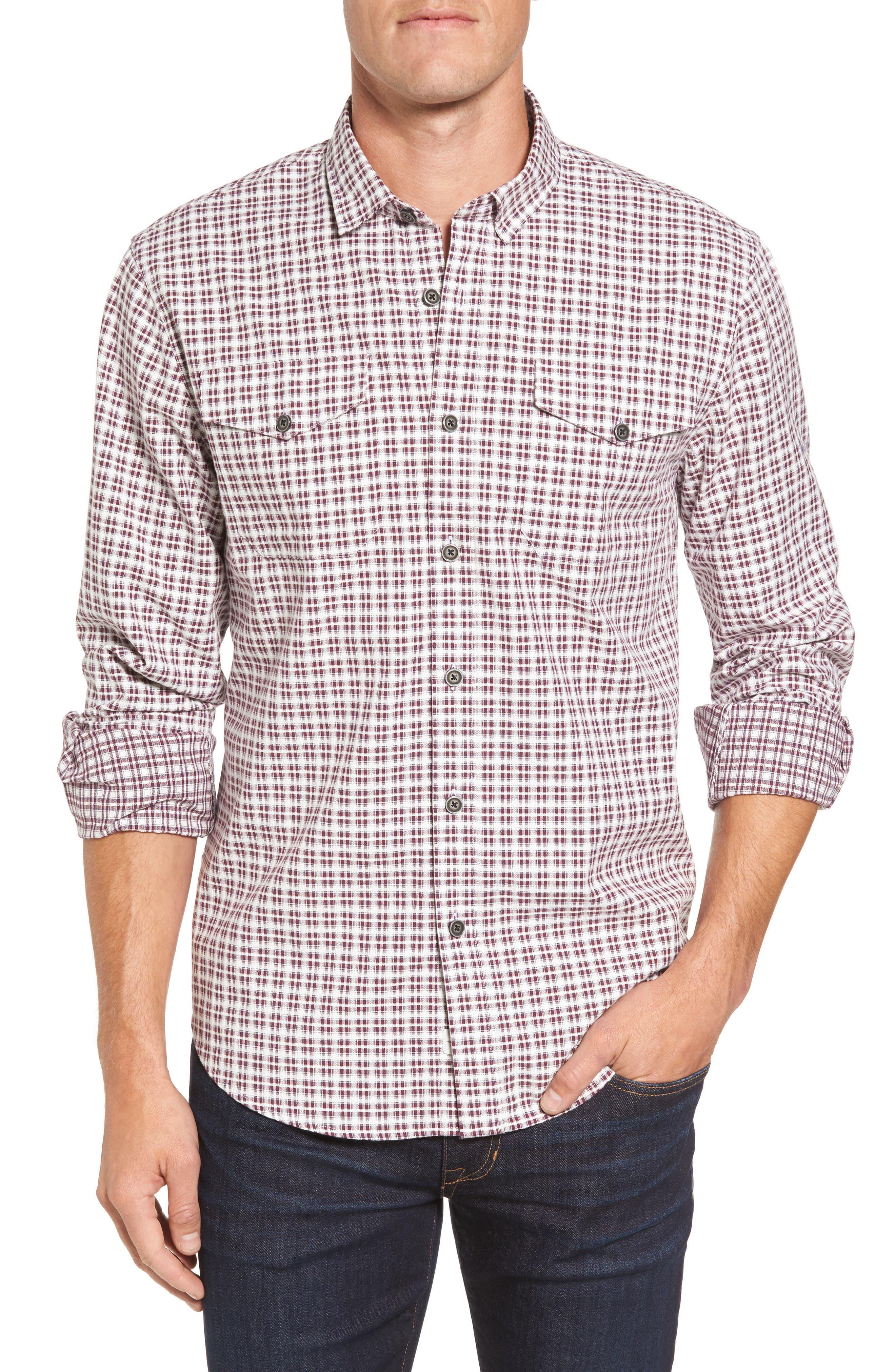 Coastaoro Dias Regular Fit Check Print Sport Shirt