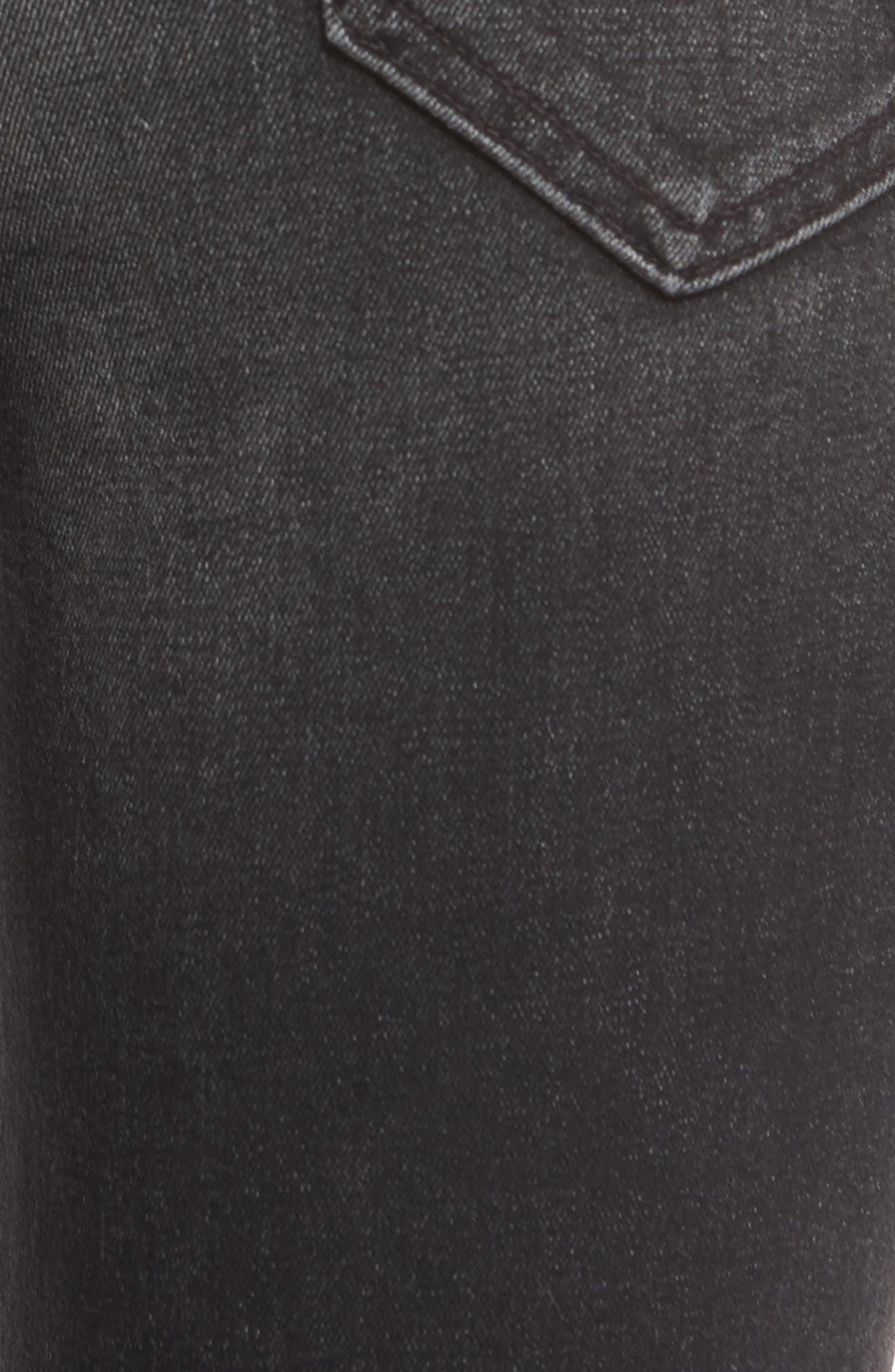 Alternate Image 5  - MOTHER The Insider High Waist Step Hem Crop Bootcut Jeans (Night Hawk)