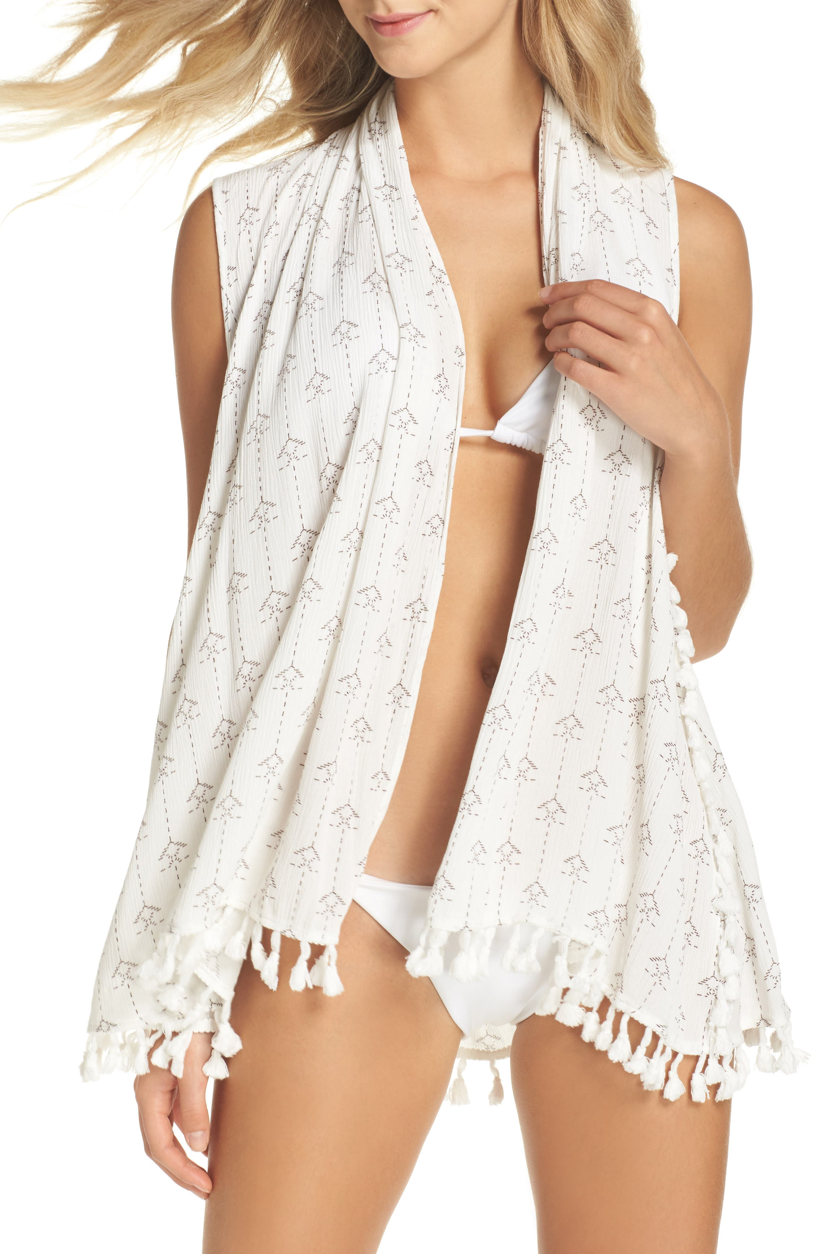 L Space Ocean Drive Native Cover-Up Vest